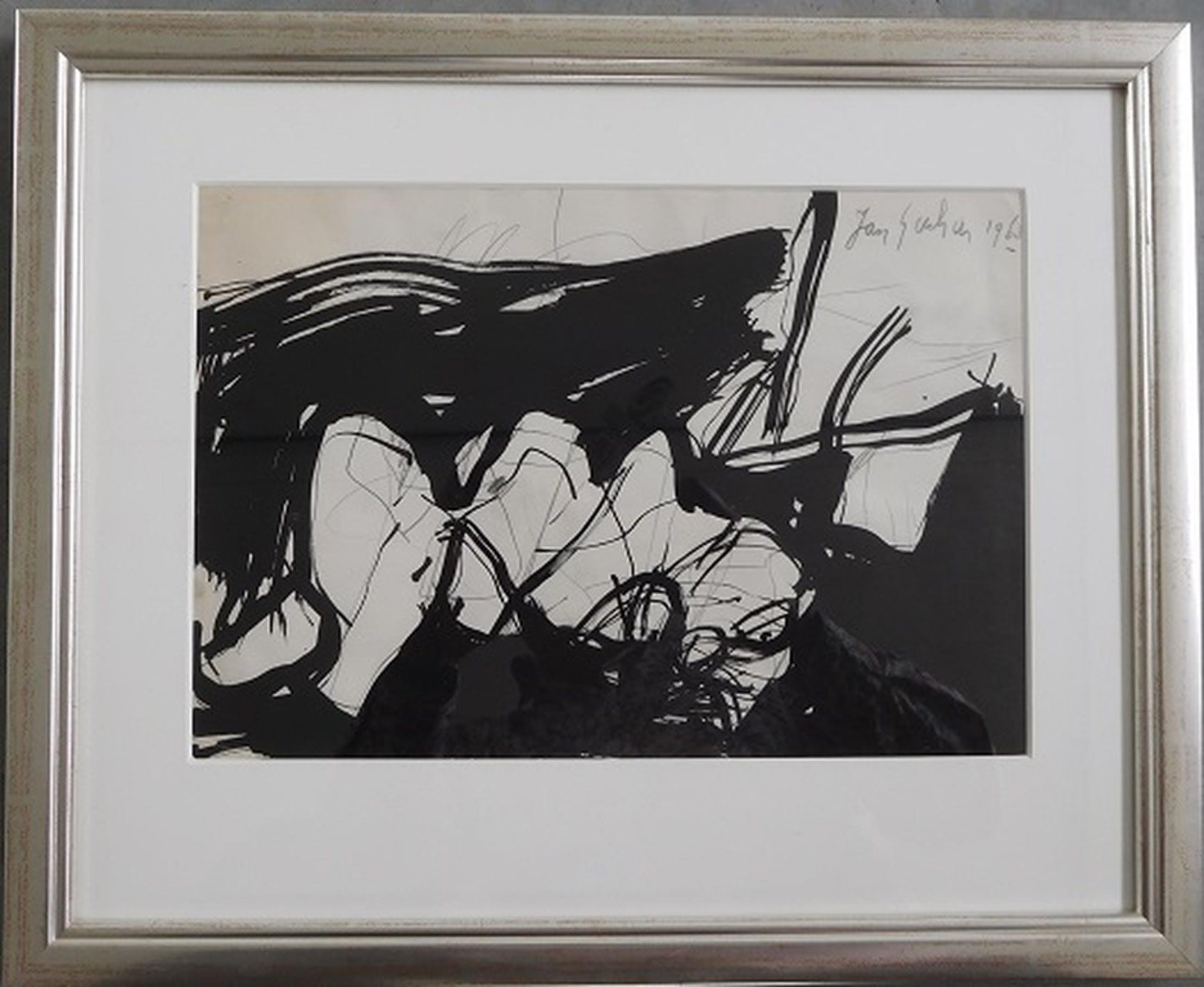 Jan Sierhuis, Landschap met liggend figuur, Oost-Indische Inkt en potlood,1968 kopen? Bied vanaf 150!