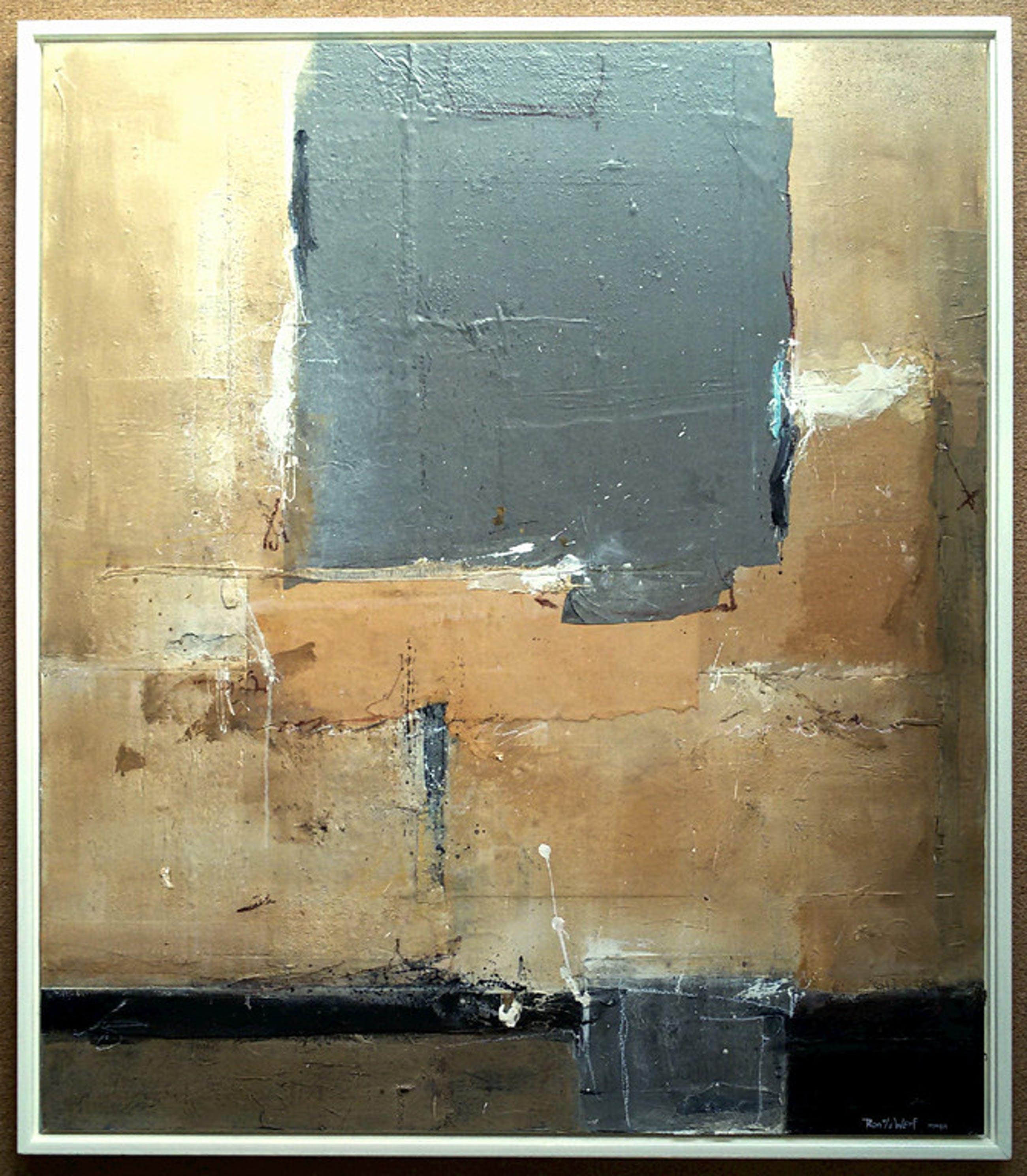 Ron van der Werf - Abstract, gemengde techniek op paneel (mooi ingelijst, groot) kopen? Bied vanaf 575!