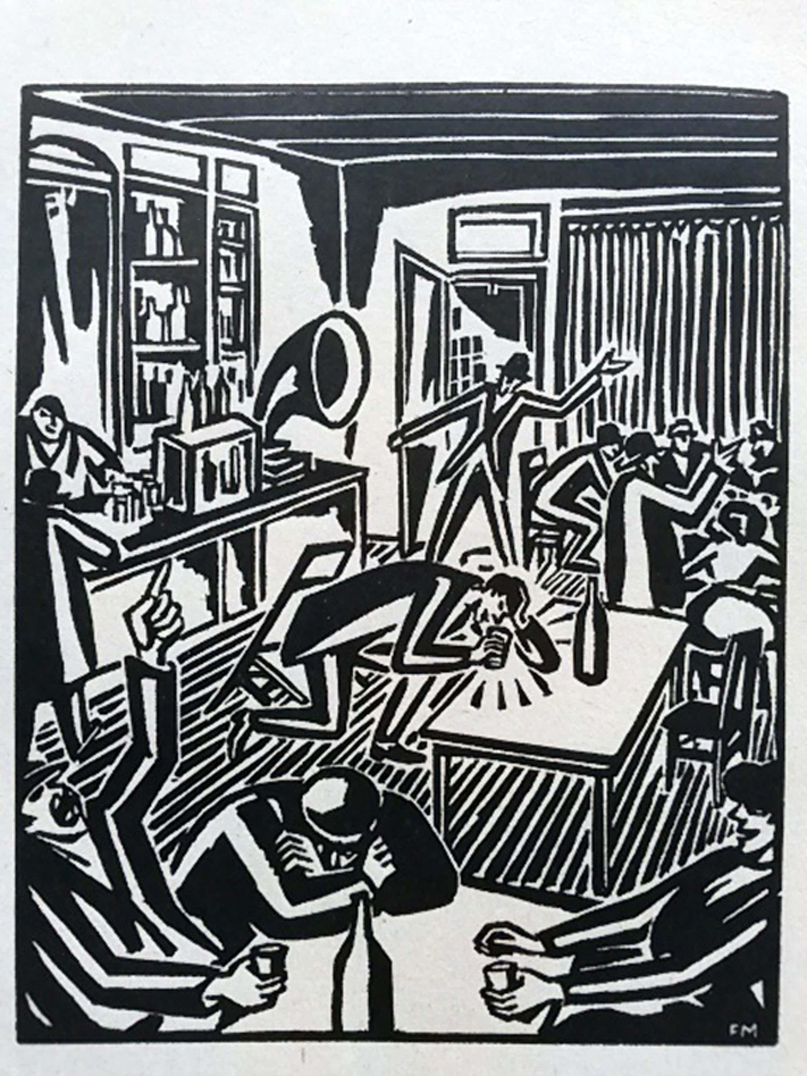 Frans Masereel, houtsnede, uit: Le soleil 1919 (Die Sonne) kopen? Bied vanaf 35!