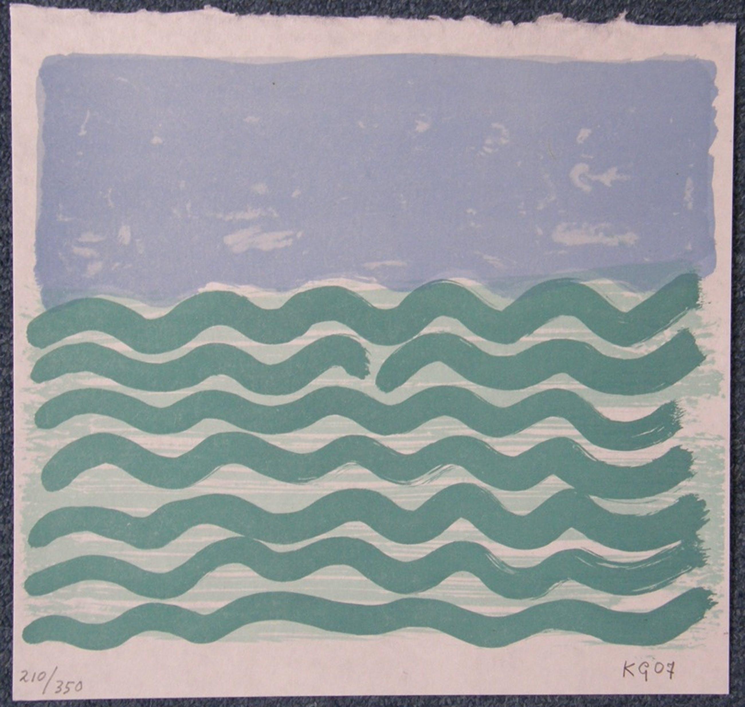 Klaas Gubbels: Zeefdruk 'Het water', genummerd en met potlood gesigneerd kopen? Bied vanaf 125!