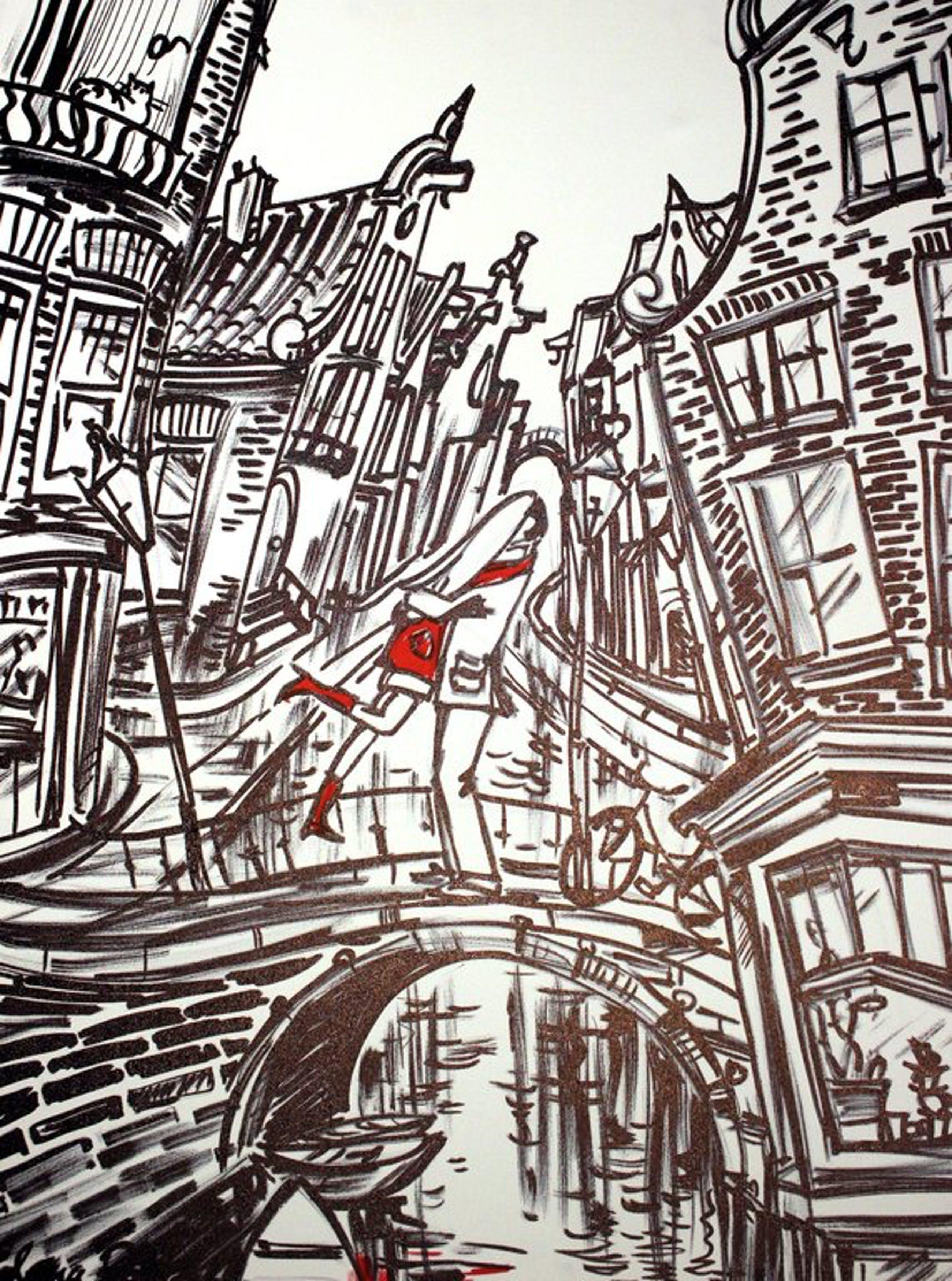 Elena Polyakova: Acrylverf ,Een paar in Amsterdam kopen? Bied vanaf 175!