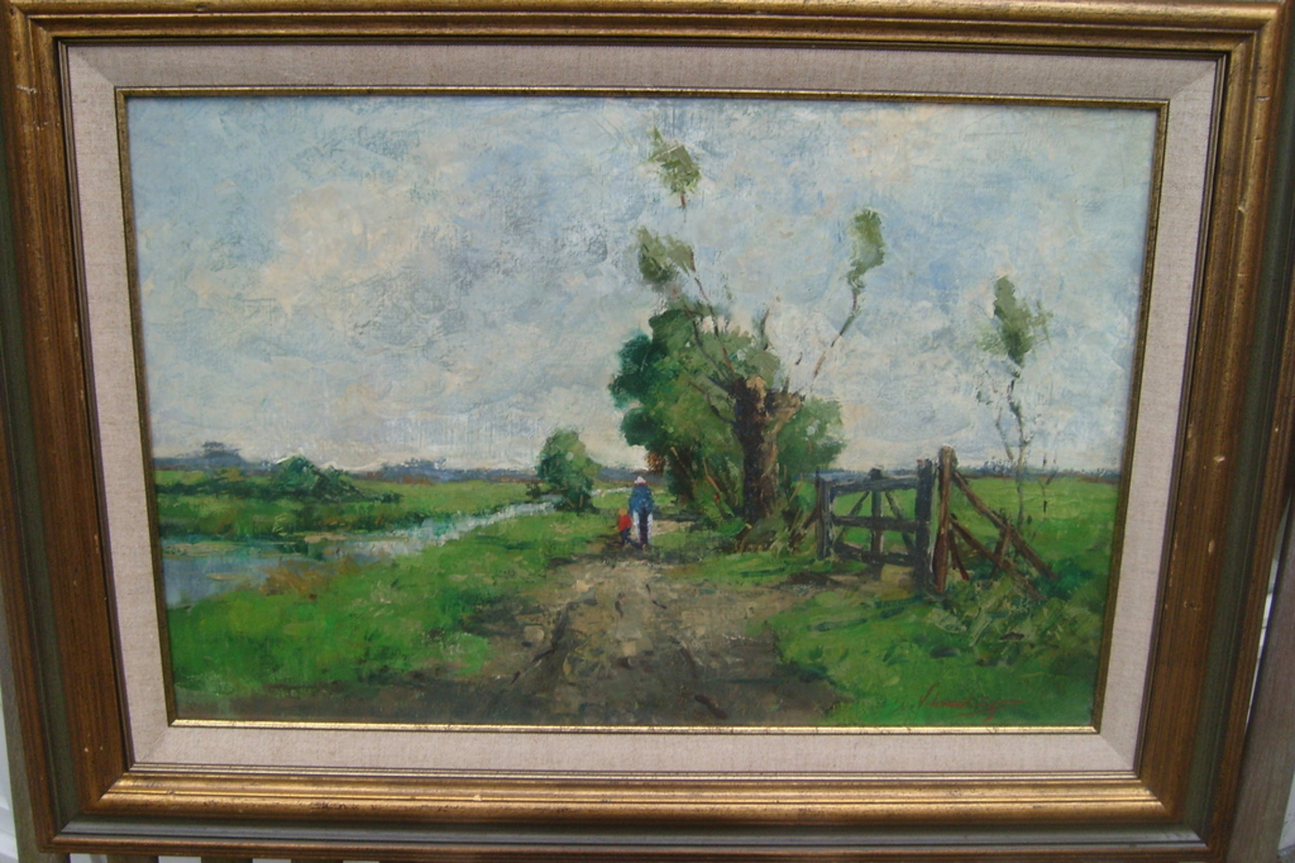Clement van Vlaardingen, landschap, olieverf op linnen, r.o. gesigneerd kopen? Bied vanaf 75!
