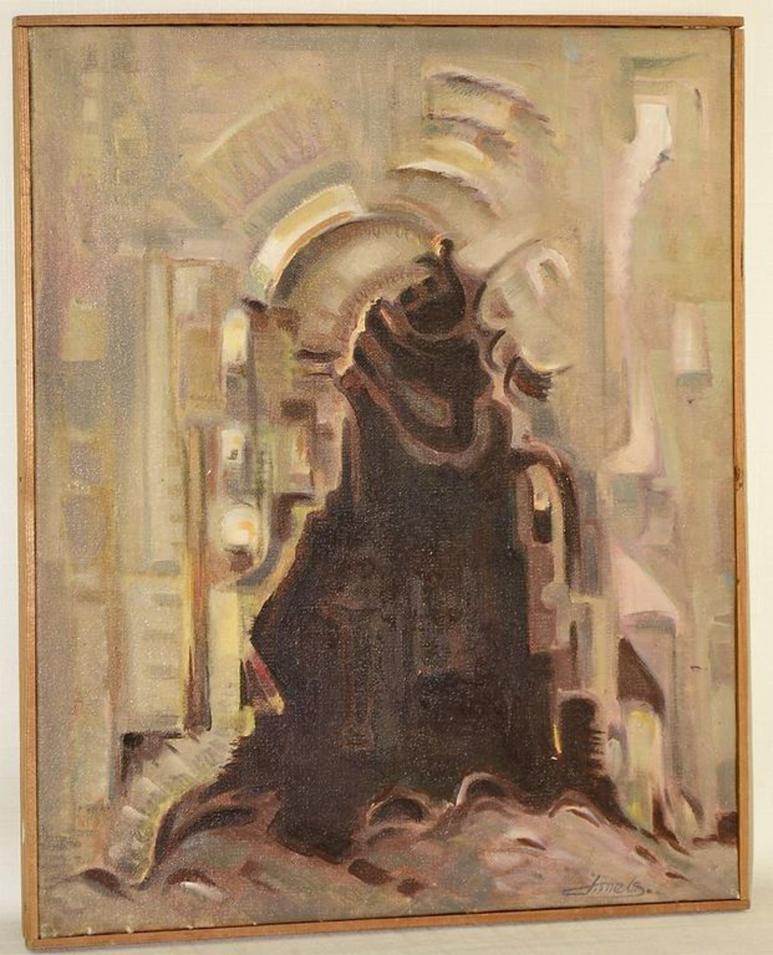 Jacques Mels: Olieverfschilderij. Zonder titel kopen? Bied vanaf 1!