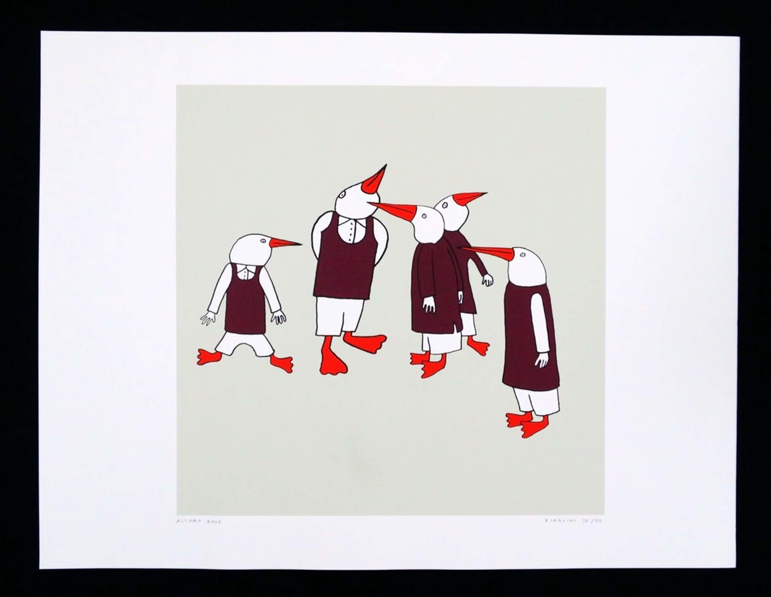 Jeroen Allart: Zeefdruk, Pinguins kopen? Bied vanaf 45!