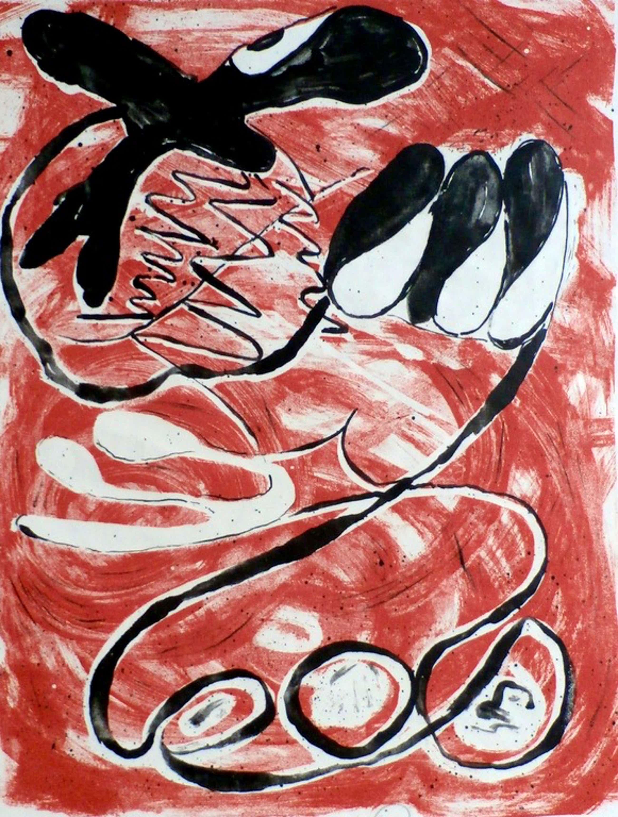 Piet van Stuivenberg - litho: abstracte compositie - 1953 kopen? Bied vanaf 111!