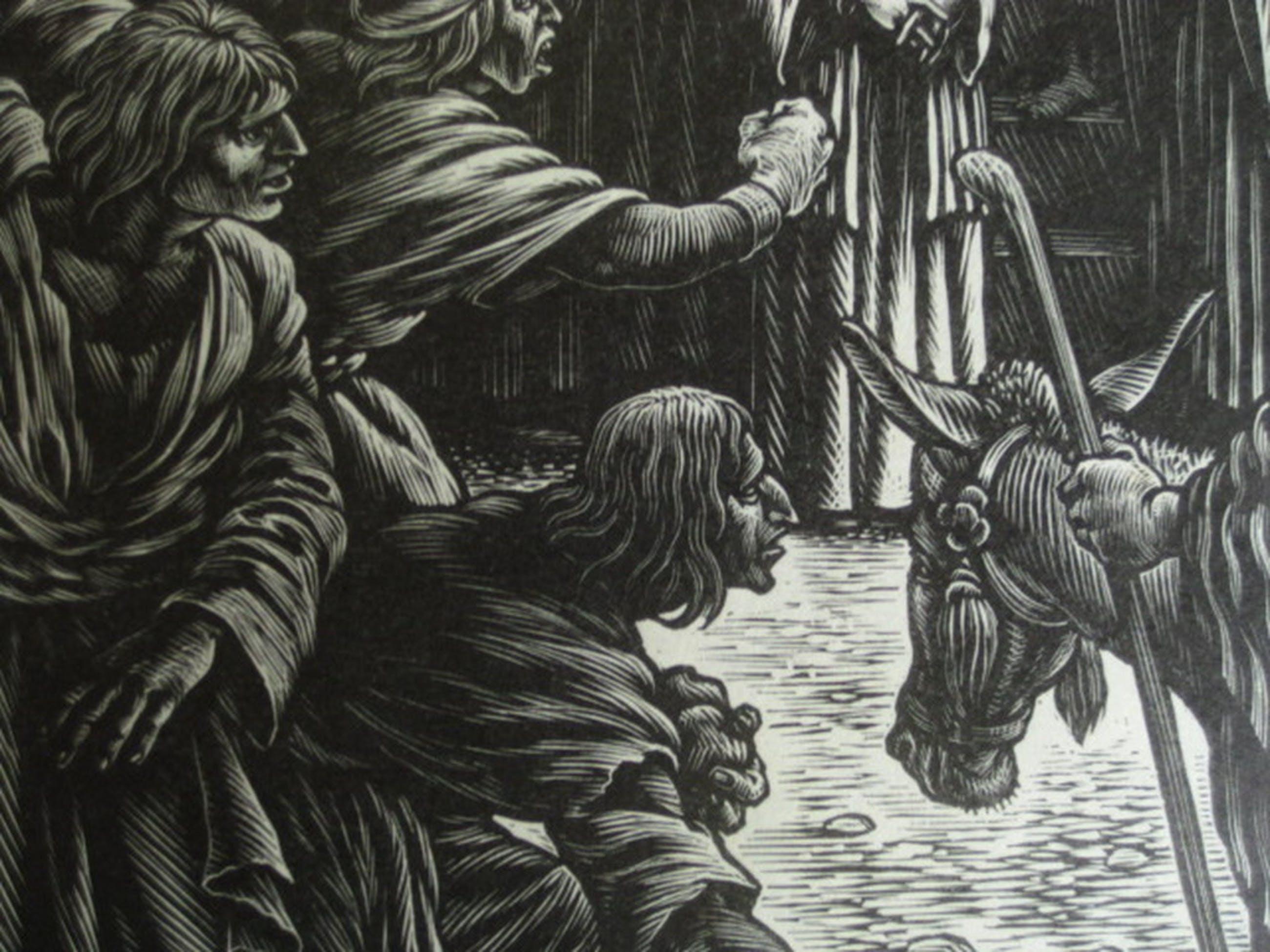 Nico Bulder 1898-1964 originele houtgravure 1937 Bijbelse voorstelling handgesig kopen? Bied vanaf 1!
