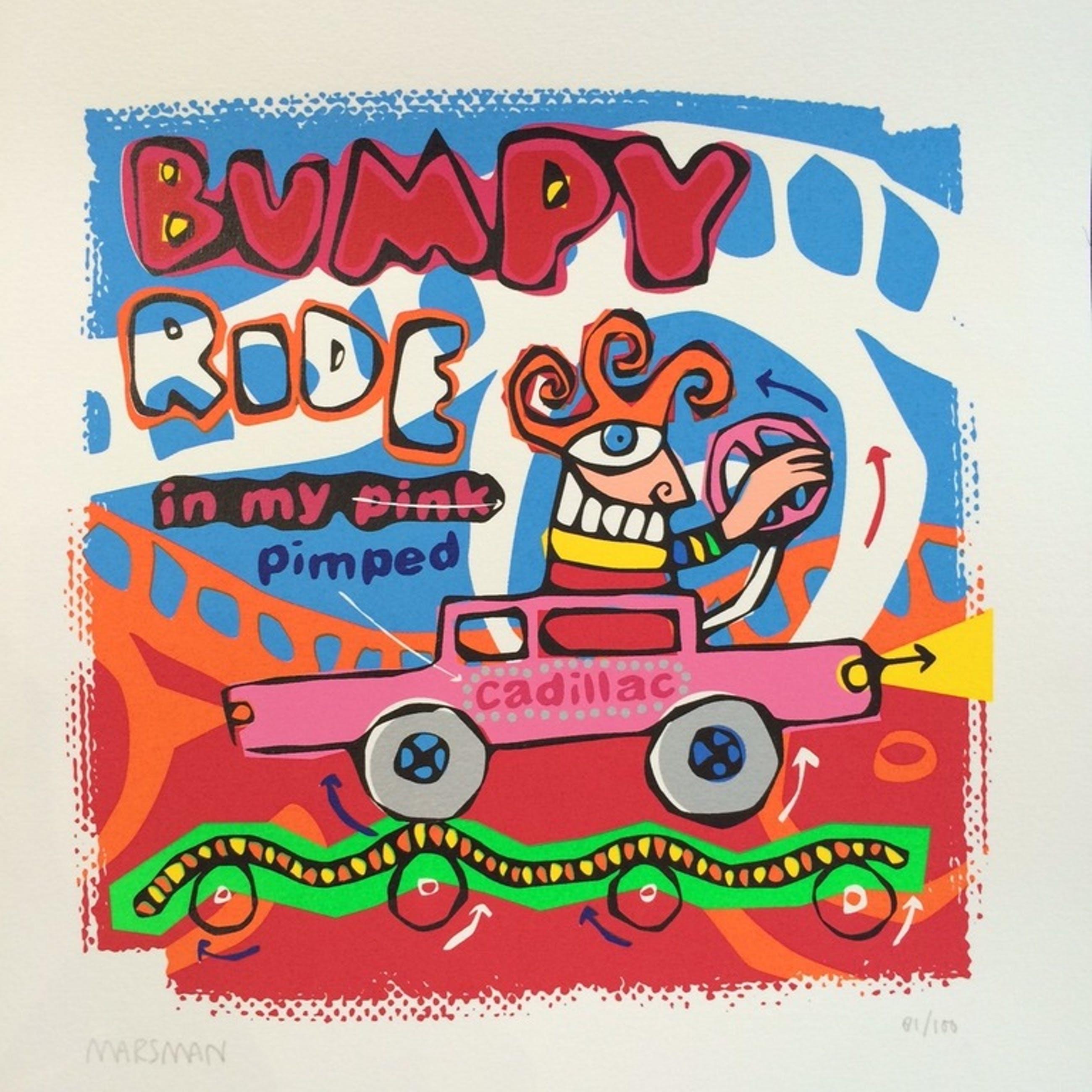 Jean-Paul Marsman, zeefdruk op papier, Titel: Bumpy Ride kopen? Bied vanaf 10!