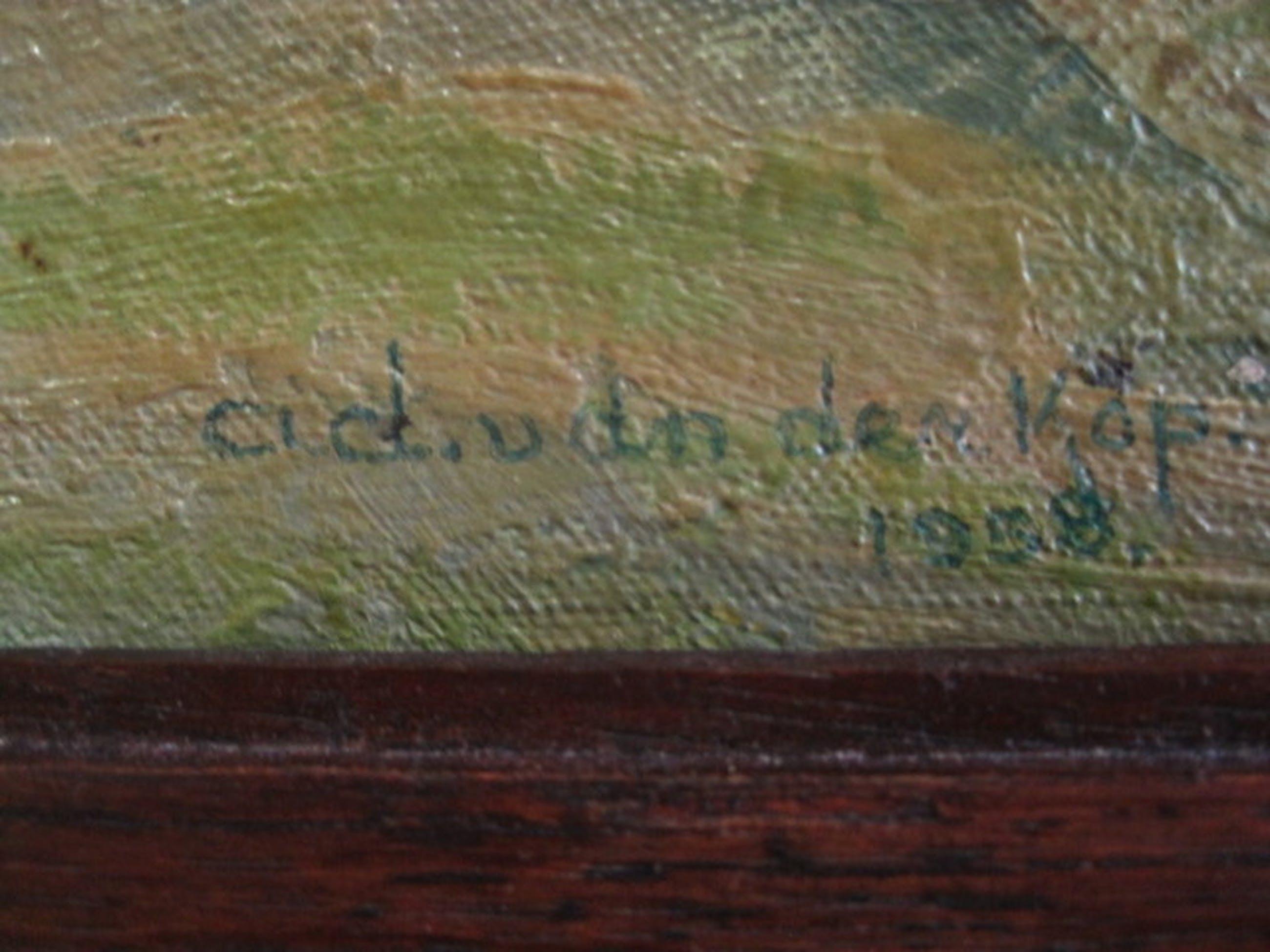 """Ad v/d Kop 1901-1963 olieverf """"Berglandschap Menton"""" 1938  kopen? Bied vanaf 1!"""
