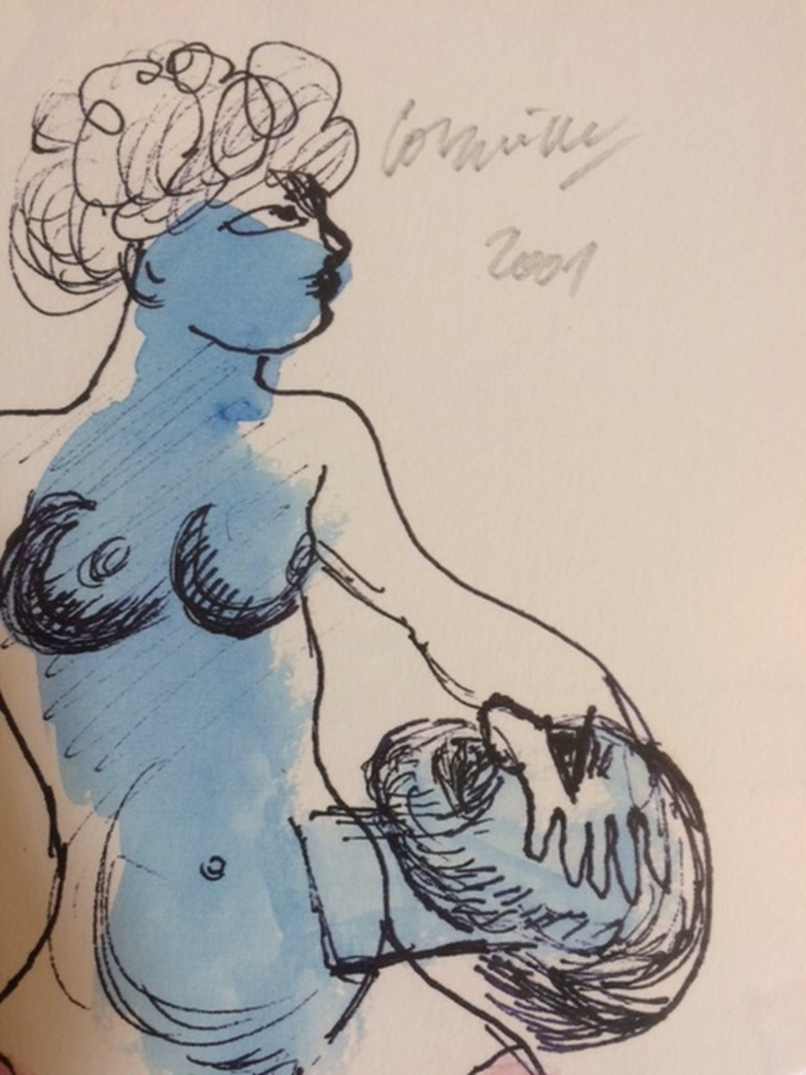 Corneille - Salomé - Lithografie - handgesigneerd - oplage 50 - 2001-zelfportret kopen? Bied vanaf 100!
