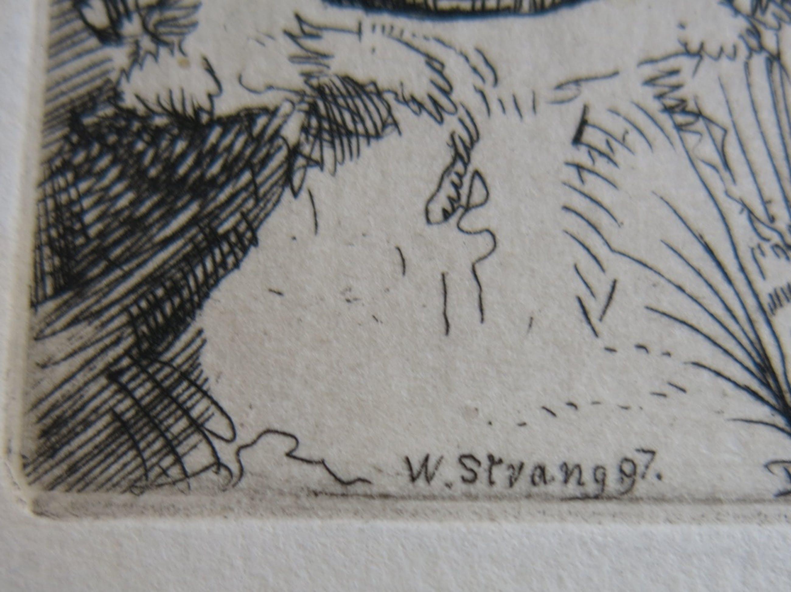 William Strang: Ets, Vrouw in landschap kopen? Bied vanaf 1!