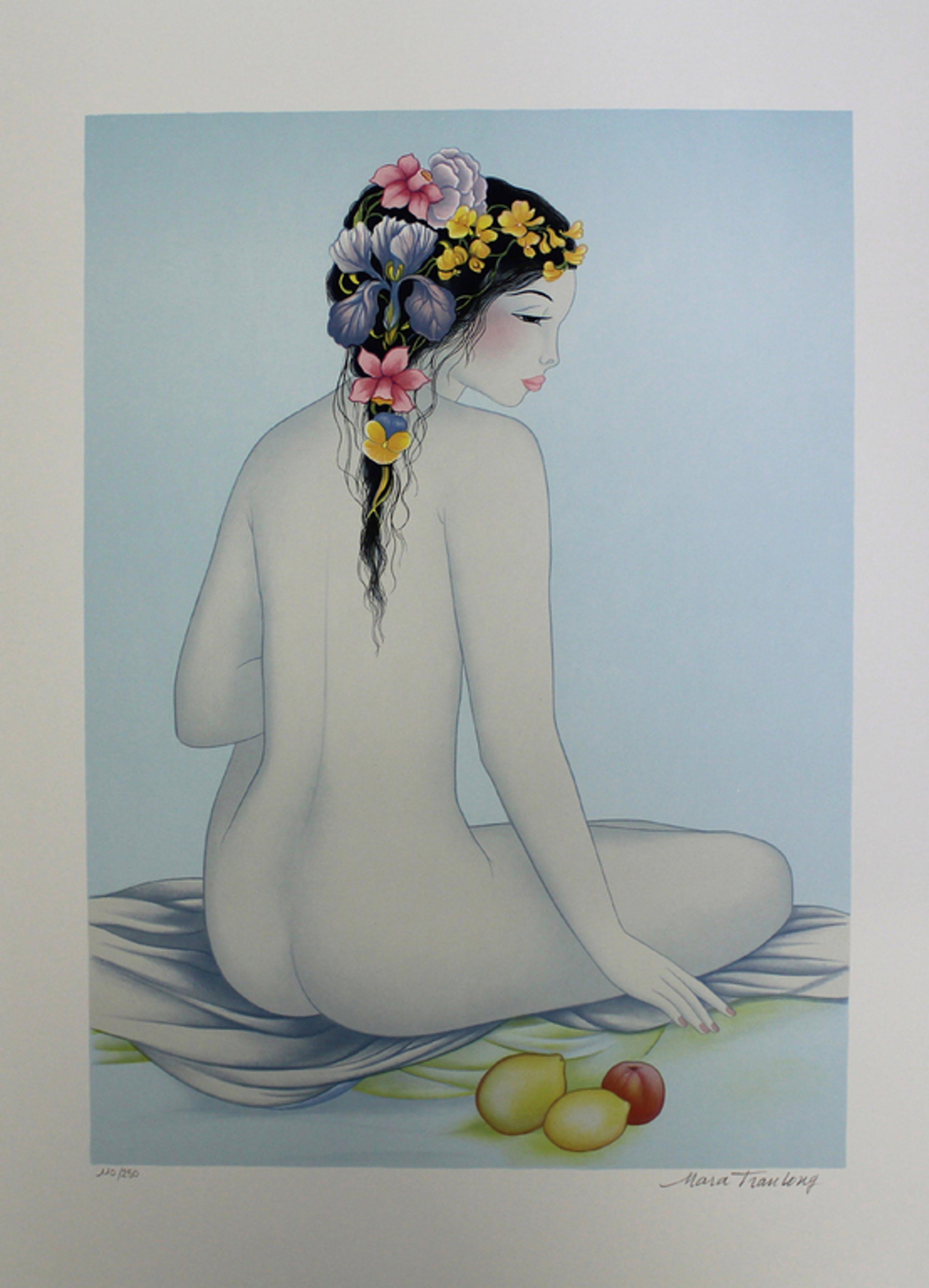 Mara Tran Long: Lithografie, Nu aux citrons kopen? Bied vanaf 25!
