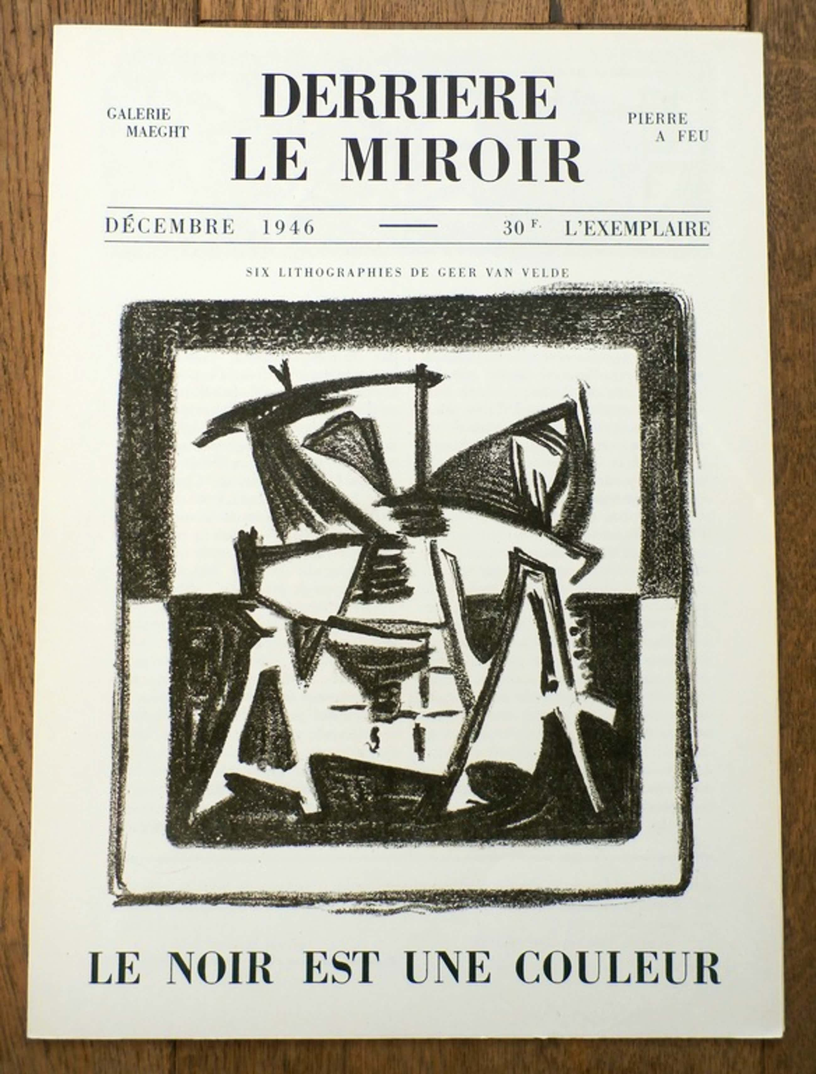 Geer van Velde - Derrière le Miroir nr.1 -- met zes originele litho's - 1946  kopen? Bied vanaf 90!
