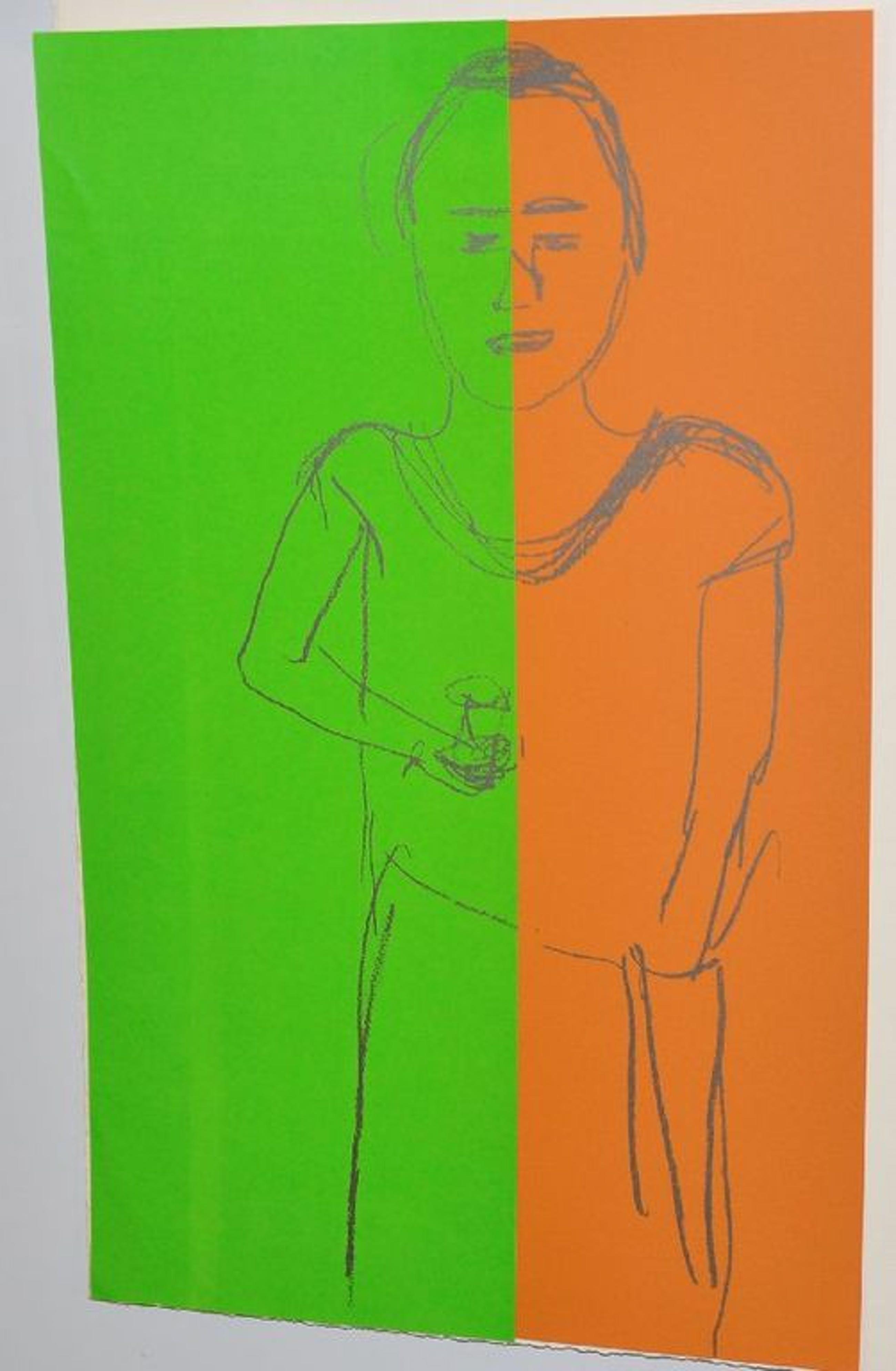 Emo Verkerk: Zeefdruk/Collage. Vrouw met glas in de hand kopen? Bied vanaf 70!