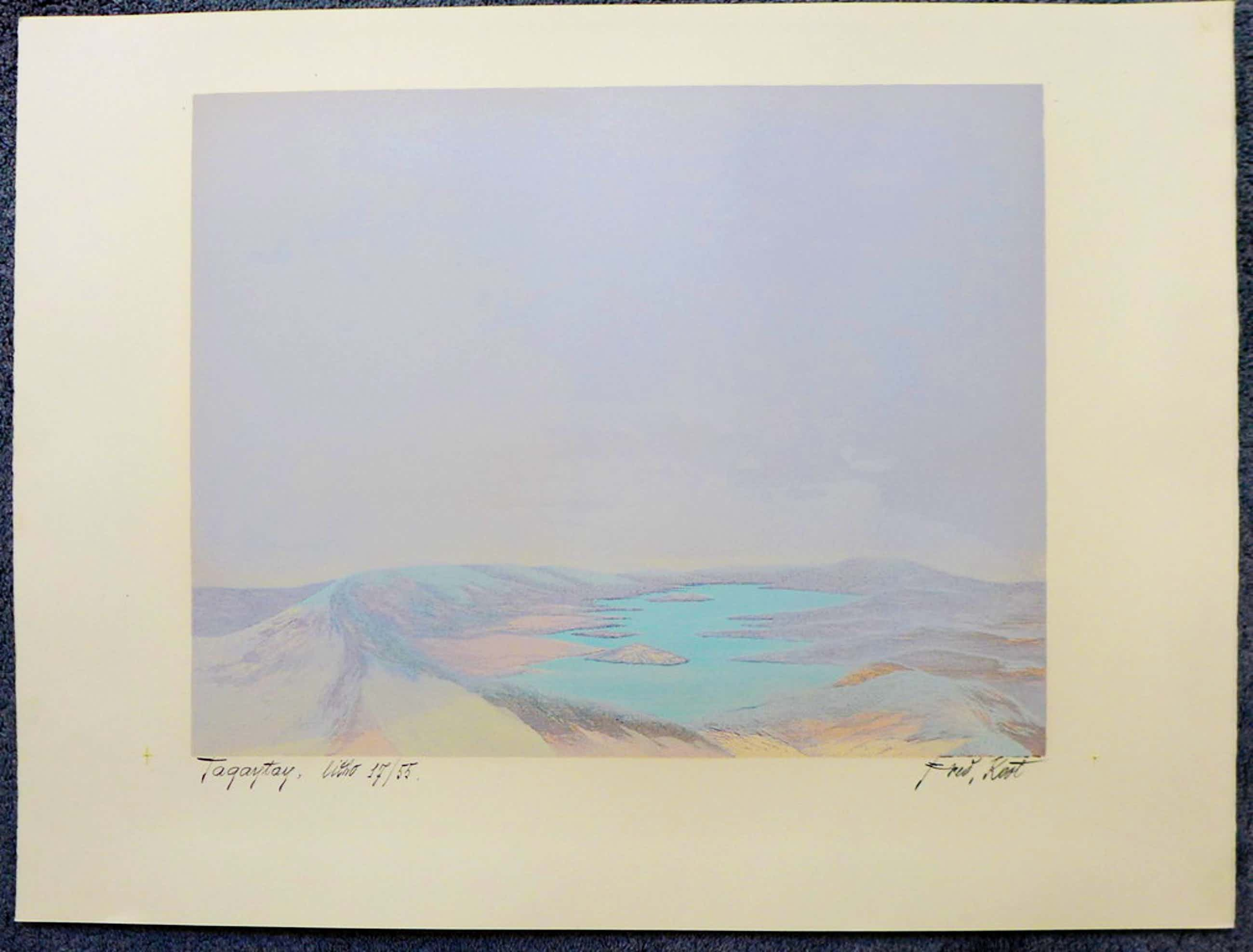 Fred Koot, litho, titel Tagaytay, oplage 19/46, beeldformaat 35,3 x 44,8 cm.  kopen? Bied vanaf 50!
