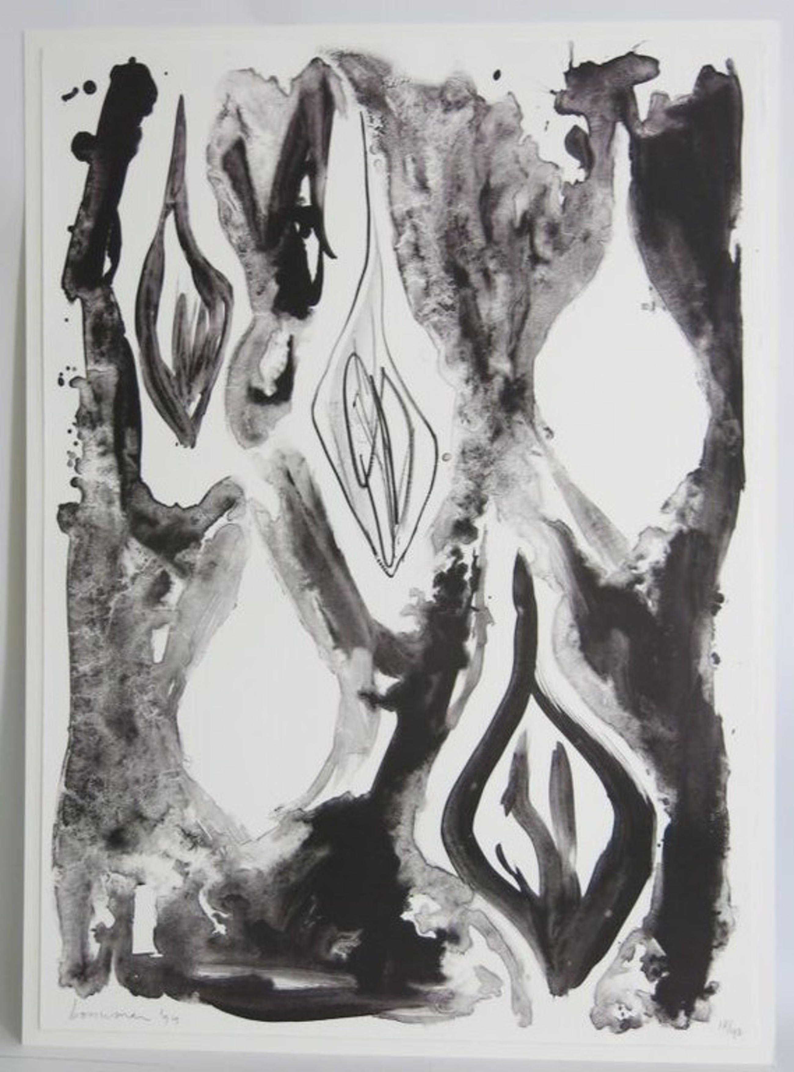 Richard Bouwman: Litho, Compositie in zwart kopen? Bied vanaf 1!