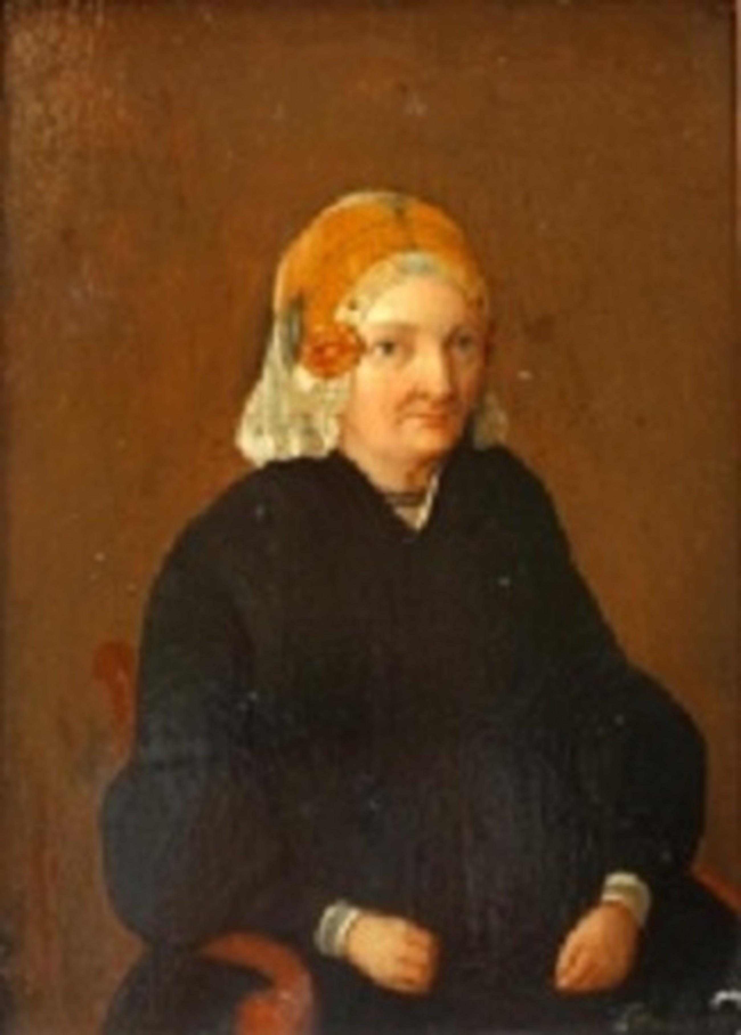 portret van vrouw met kanten muts kopen? Bied vanaf 280!