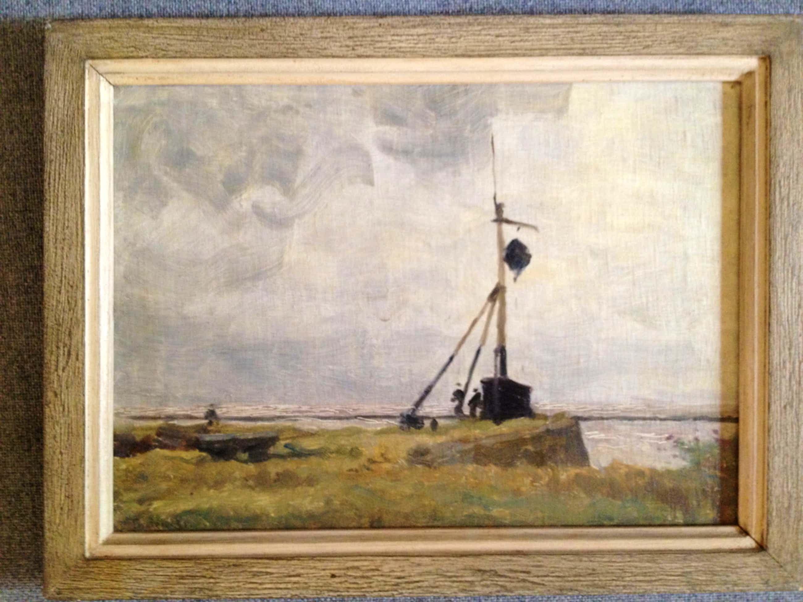 Willem Bastiaan Tholen: olieverf, Stormsignaal kopen? Bied vanaf 700!