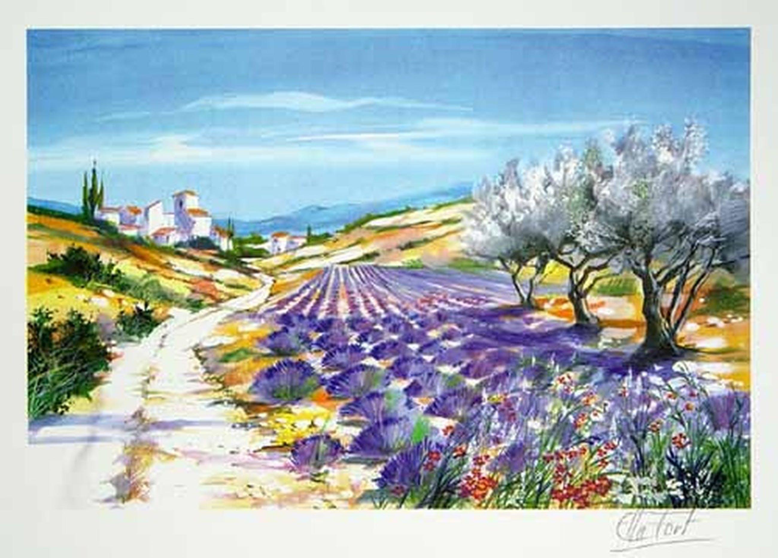 ELLA FORT - Village ae Provence - handgesigneerde litho kopen? Bied vanaf 25!