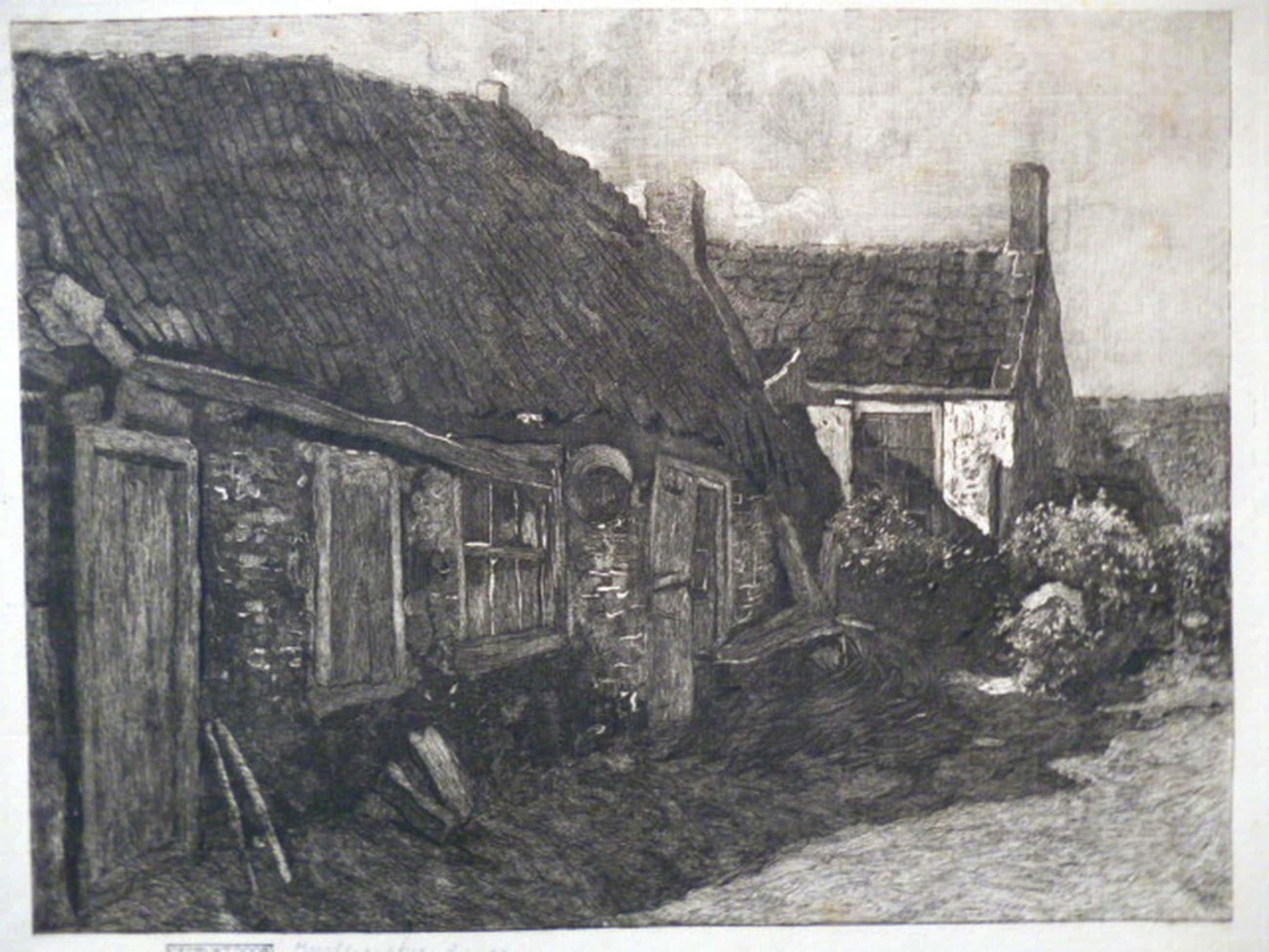 J.M. Graadt van Roggen - ets - Achterbuurt Domburg kopen? Bied vanaf 70!