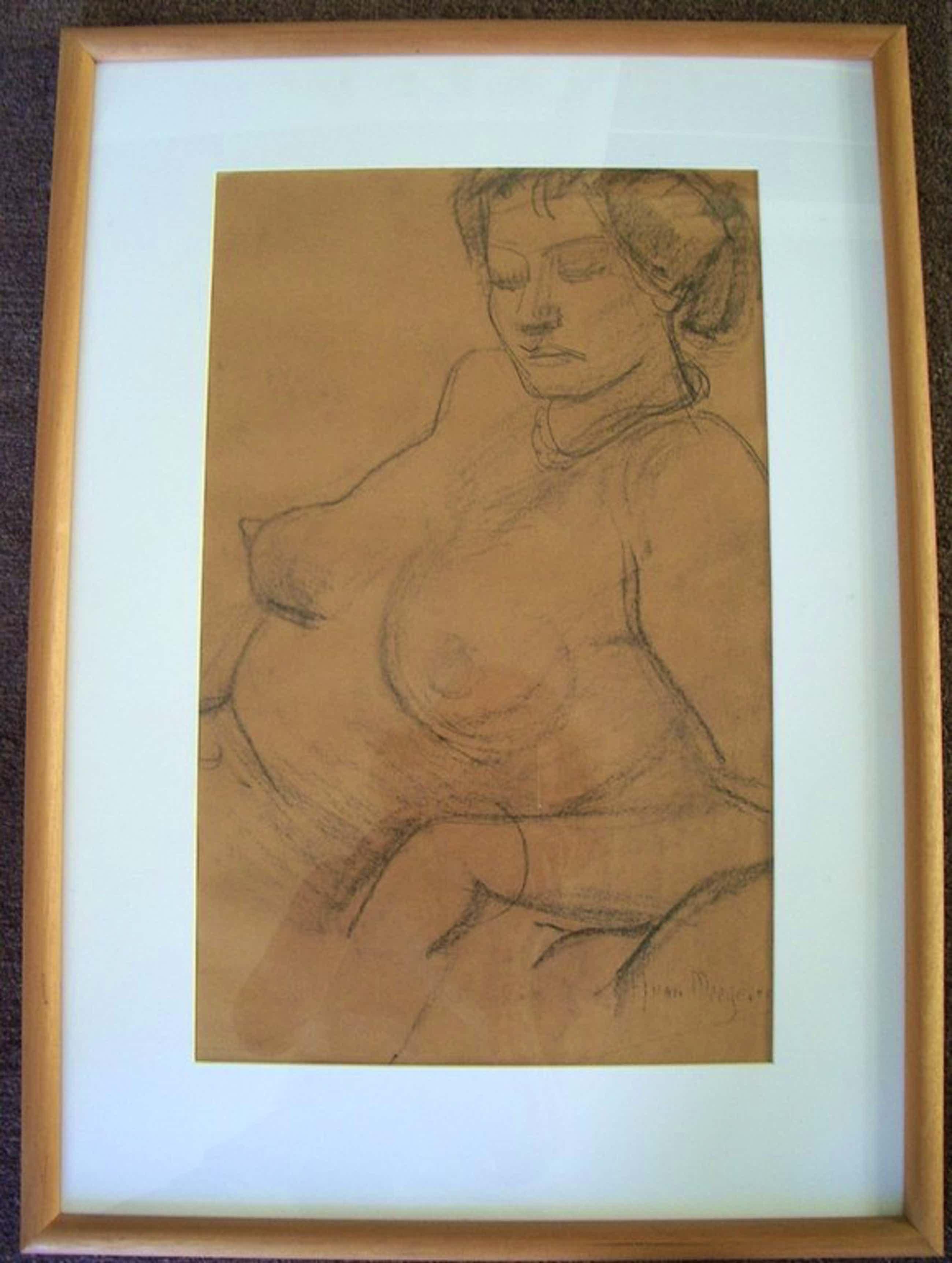 Han van Meegeren, houtskooltekening, vrouwelijk naakt kopen? Bied vanaf 600!