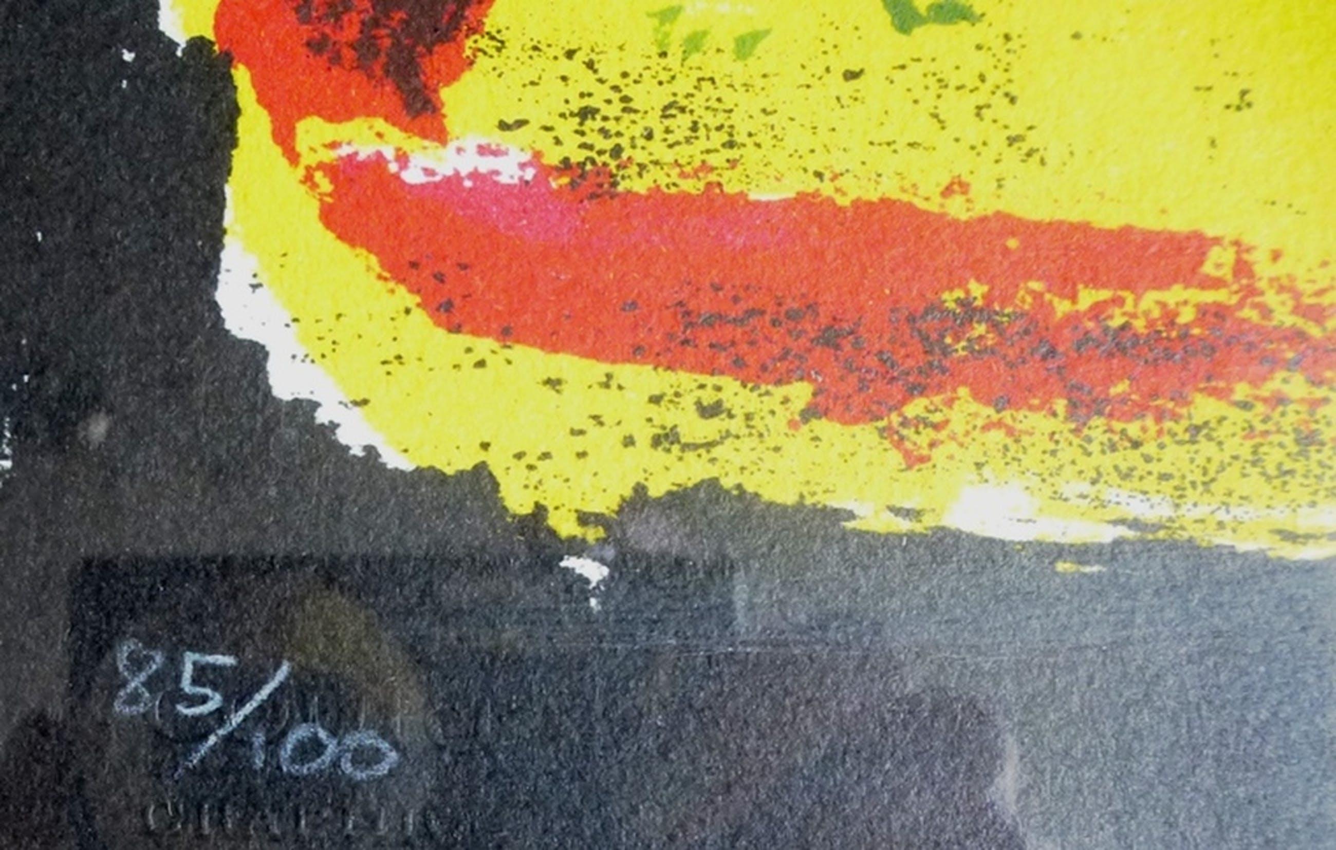Eugene Brands, Litho: Compositie, 1968, handgesigneerd, oplage 100 stuks kopen? Bied vanaf 225!