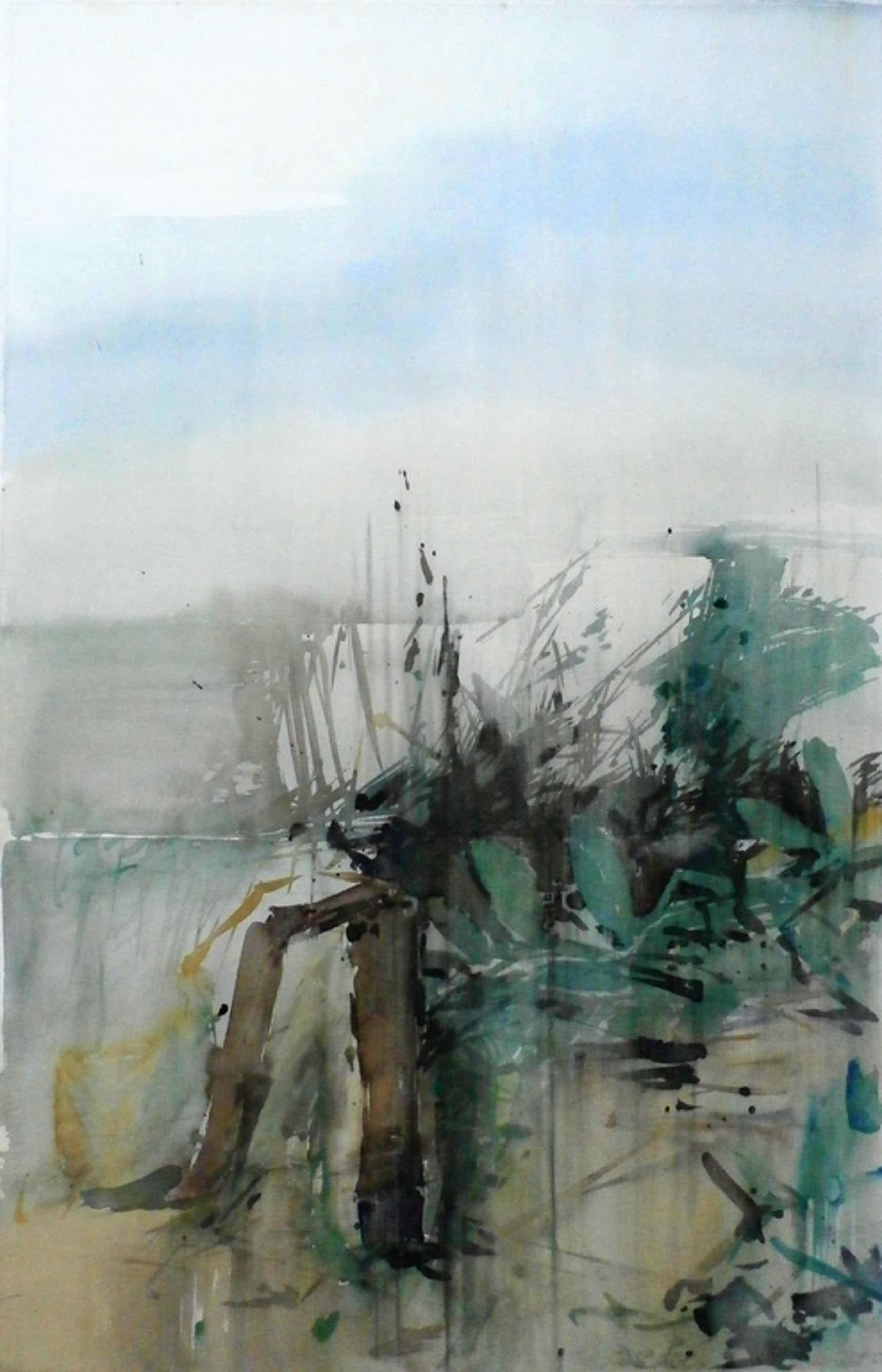 Henk Westein - aquarel: Landschap - 1975 kopen? Bied vanaf 60!
