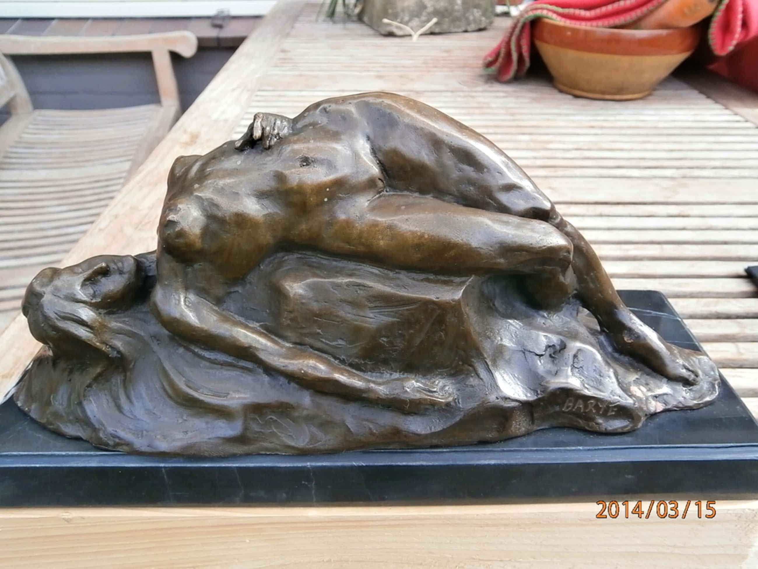 Liggend naakt, brons, ca. 1860, 32 x 13 op granieten console kopen? Bied vanaf 290!