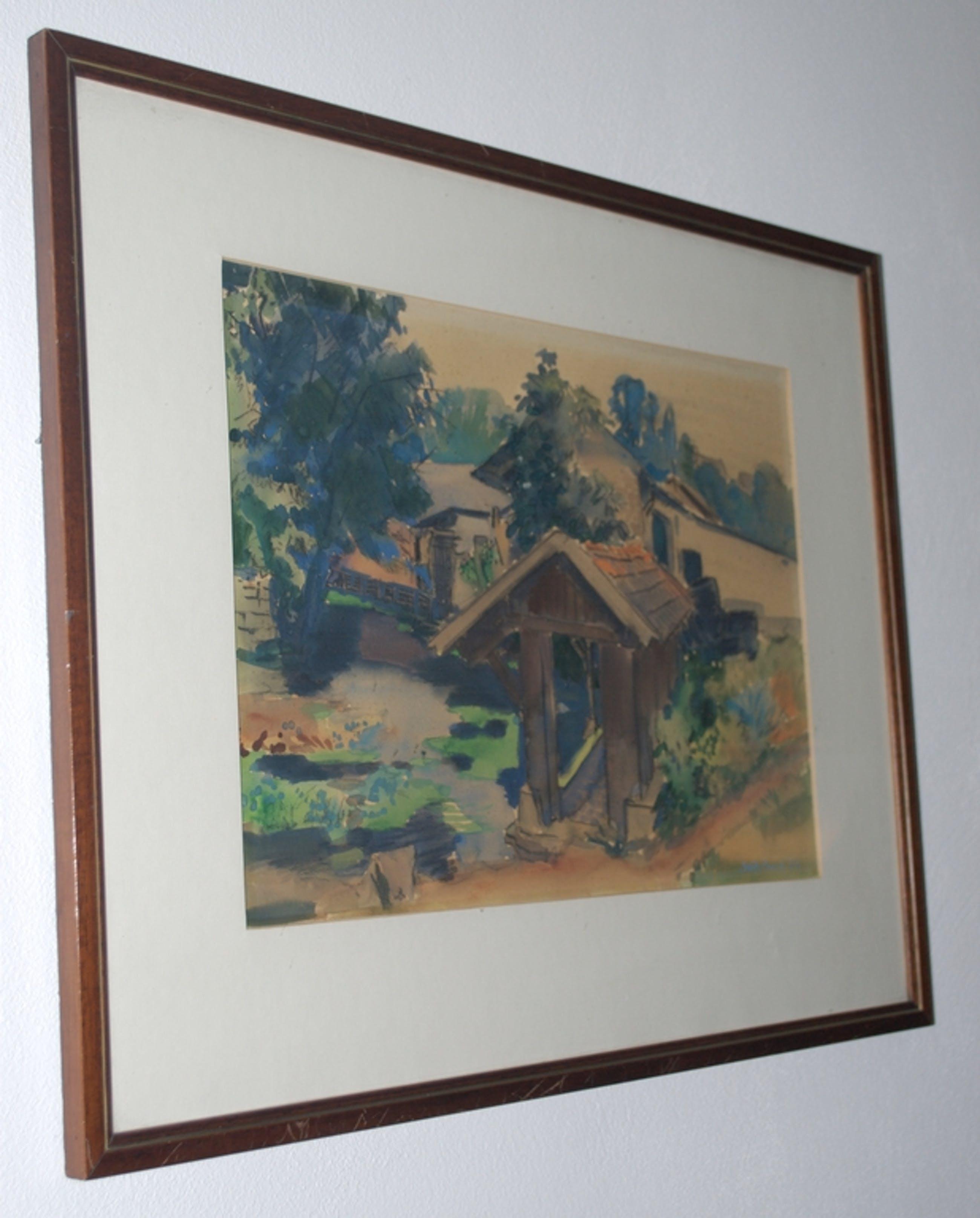 aquarel uit 1954 kopen? Bied vanaf 1!