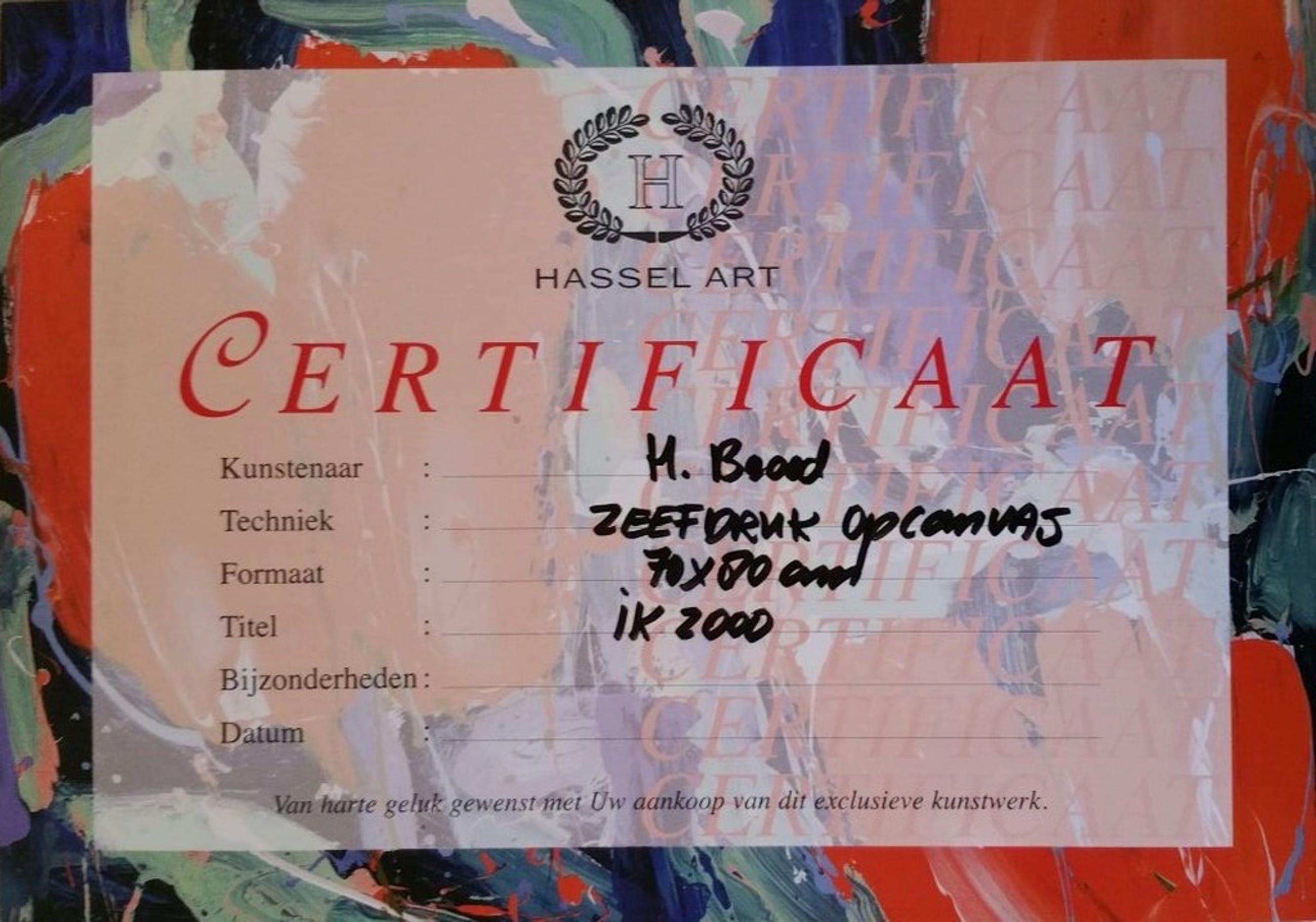 Herman Brood, zeefdruk E.A-exemplaar IK-2000 (op linnen)  kopen? Bied vanaf 450!