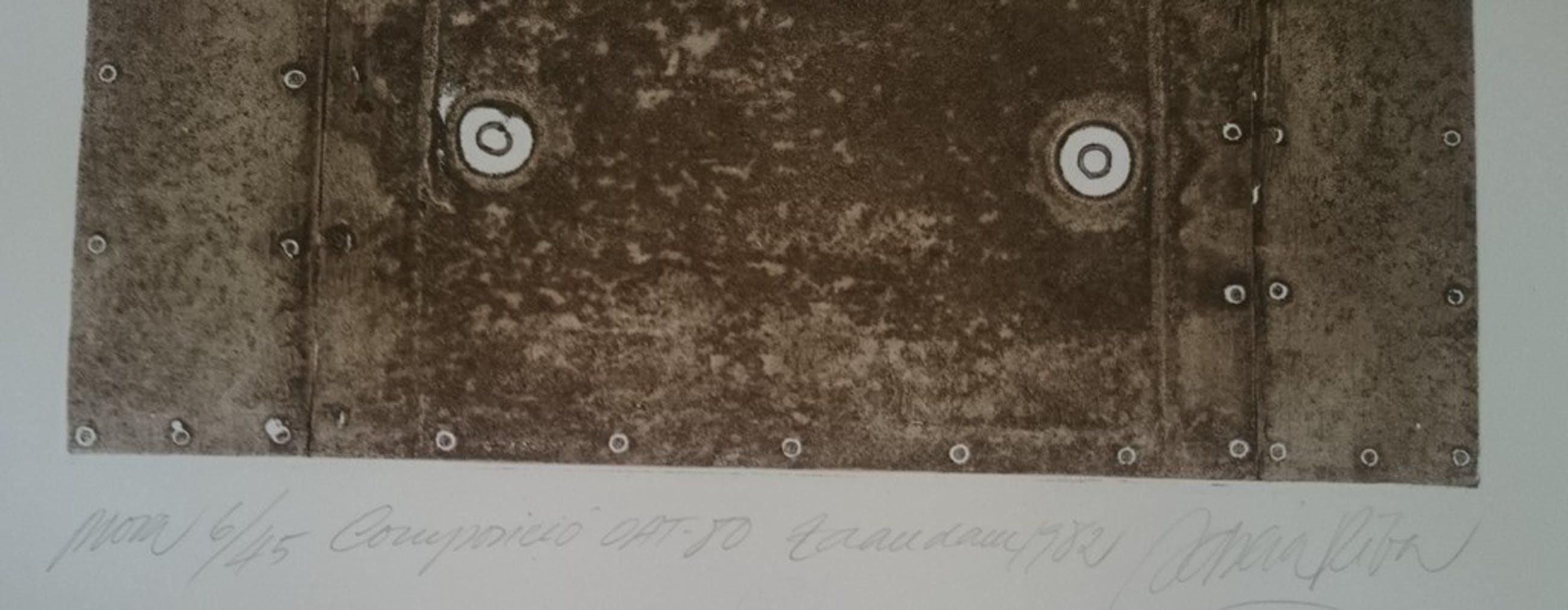 Enric Adsera Riba, ets , compositie Oat-80 1982 kopen? Bied vanaf 20!