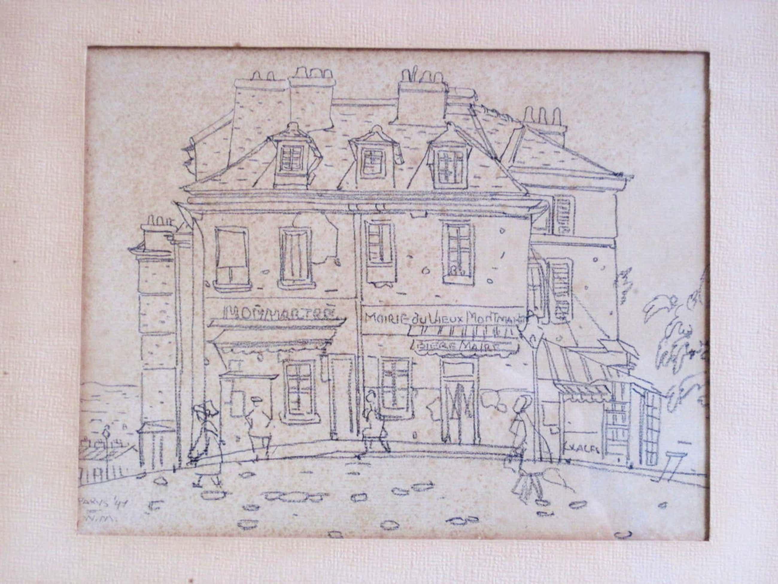 Willem Minderman 1910-1985 tekening Parijs Montmartre 1947  kopen? Bied vanaf 55!