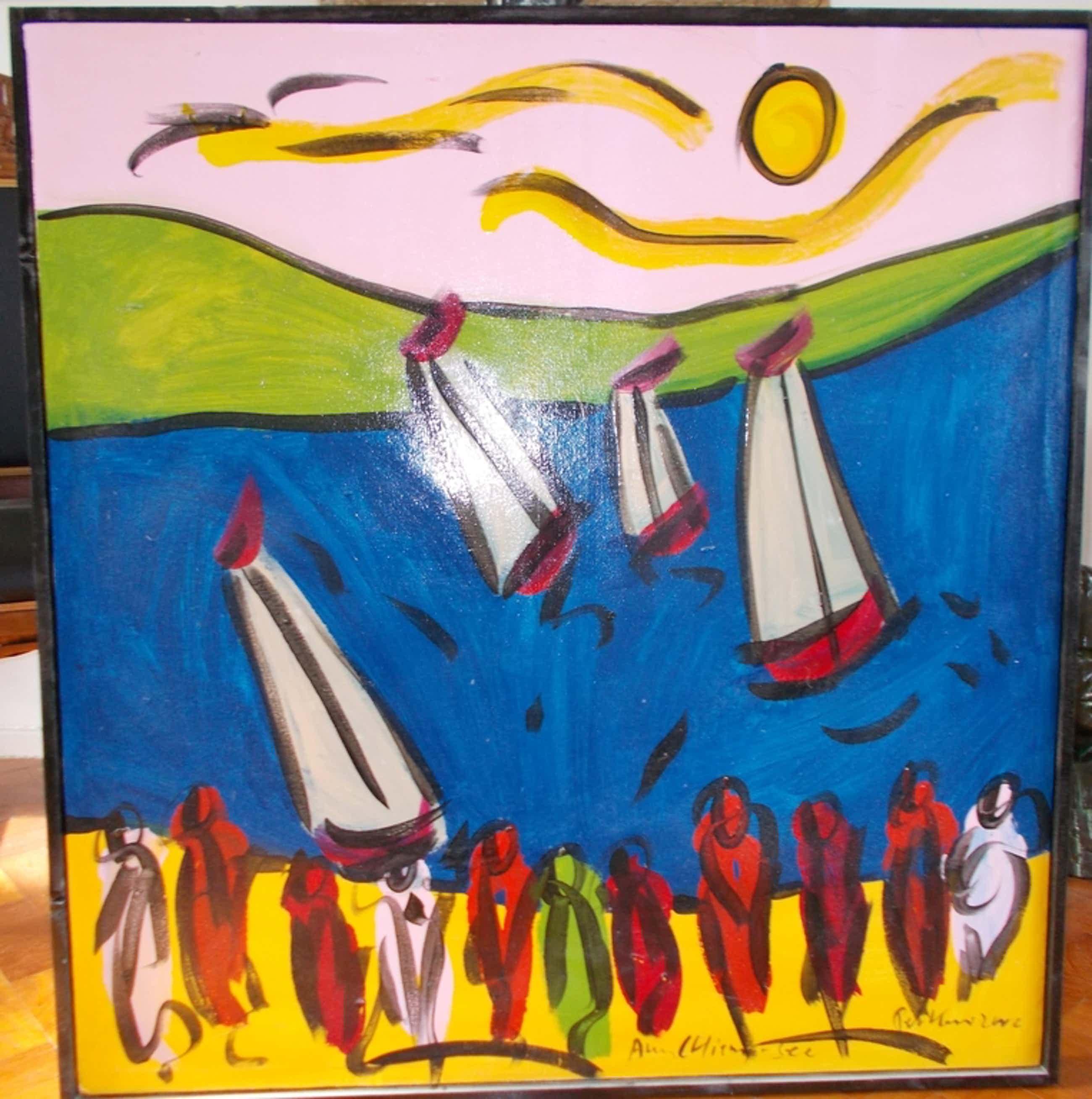 Peter Robert Keil Acryl op doek.Am Chiemsee 2006 kopen? Bied vanaf 225!