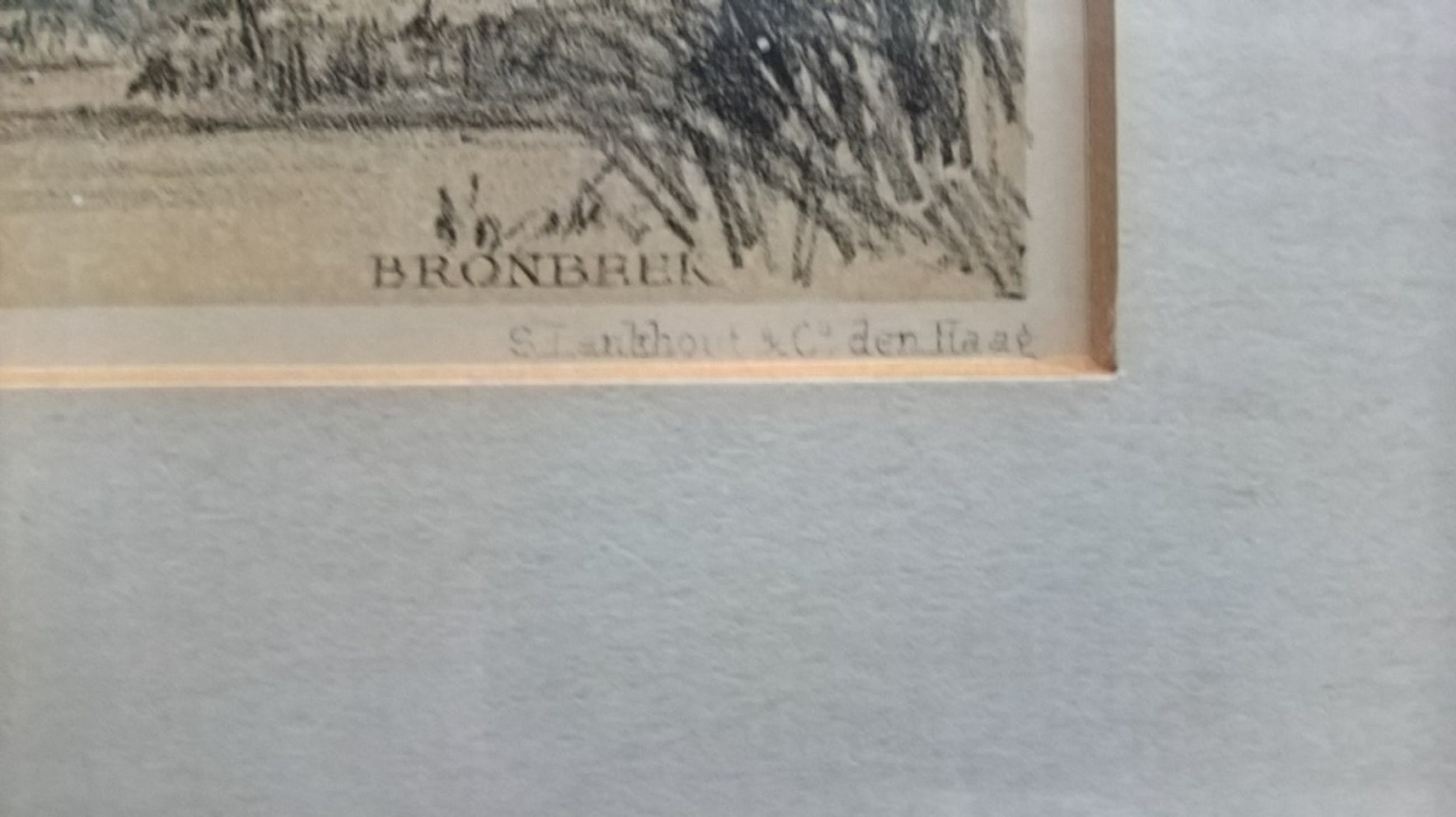 P A Schipperus, litho, bronbeek/stenen tafel/rhedense veer kopen? Bied vanaf 15!