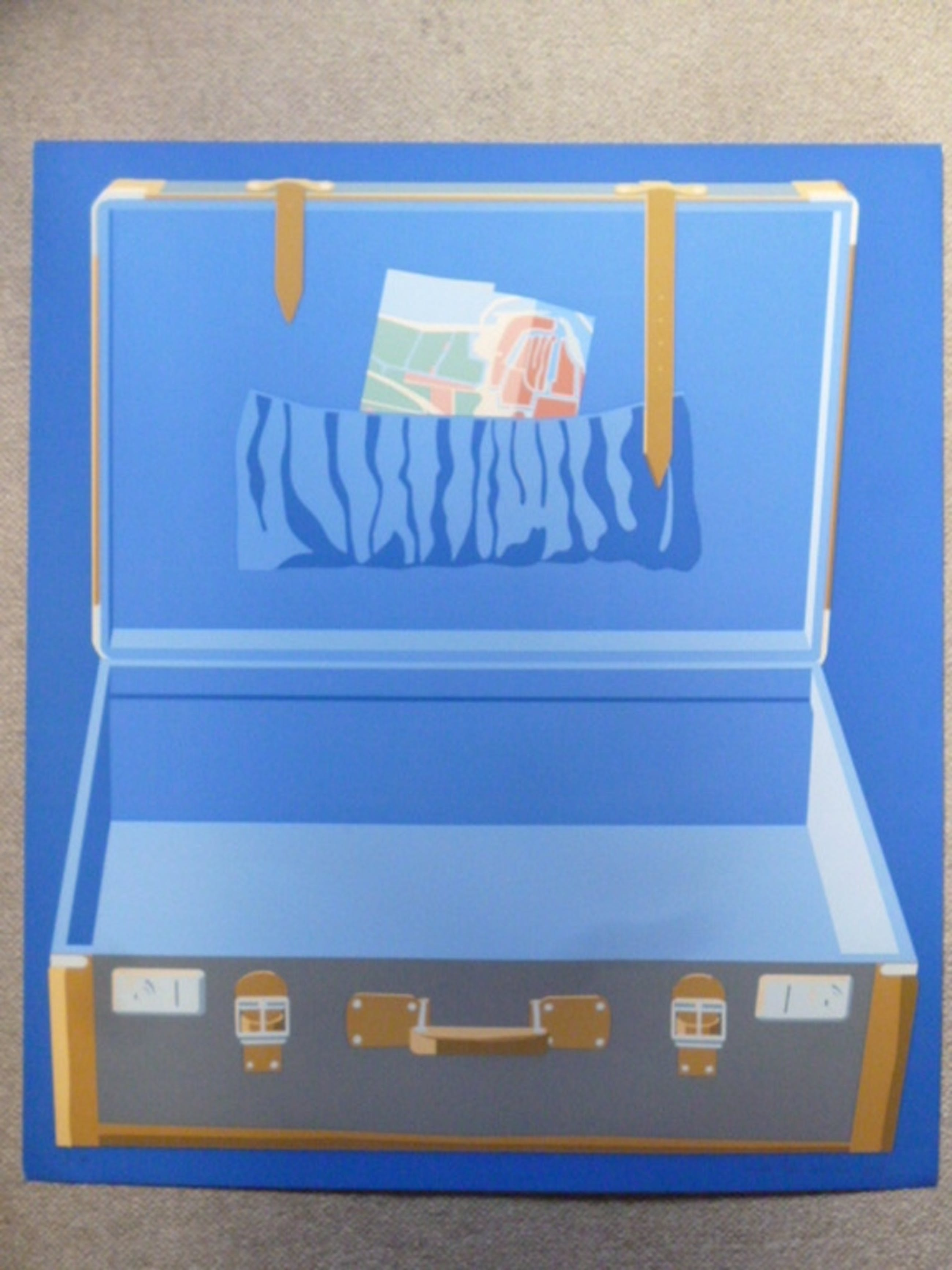Lode Pemmelaar - kleurenlitho - Reiskoffer kopen? Bied vanaf 45!