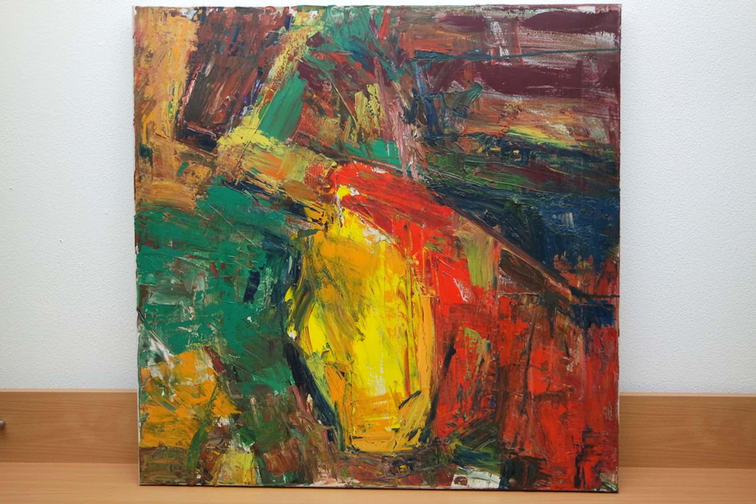 Piet MIDDELHOEK (Brielle 1930 - 2004) - olieverf op doek - abstractie compositie kopen? Bied vanaf 170!