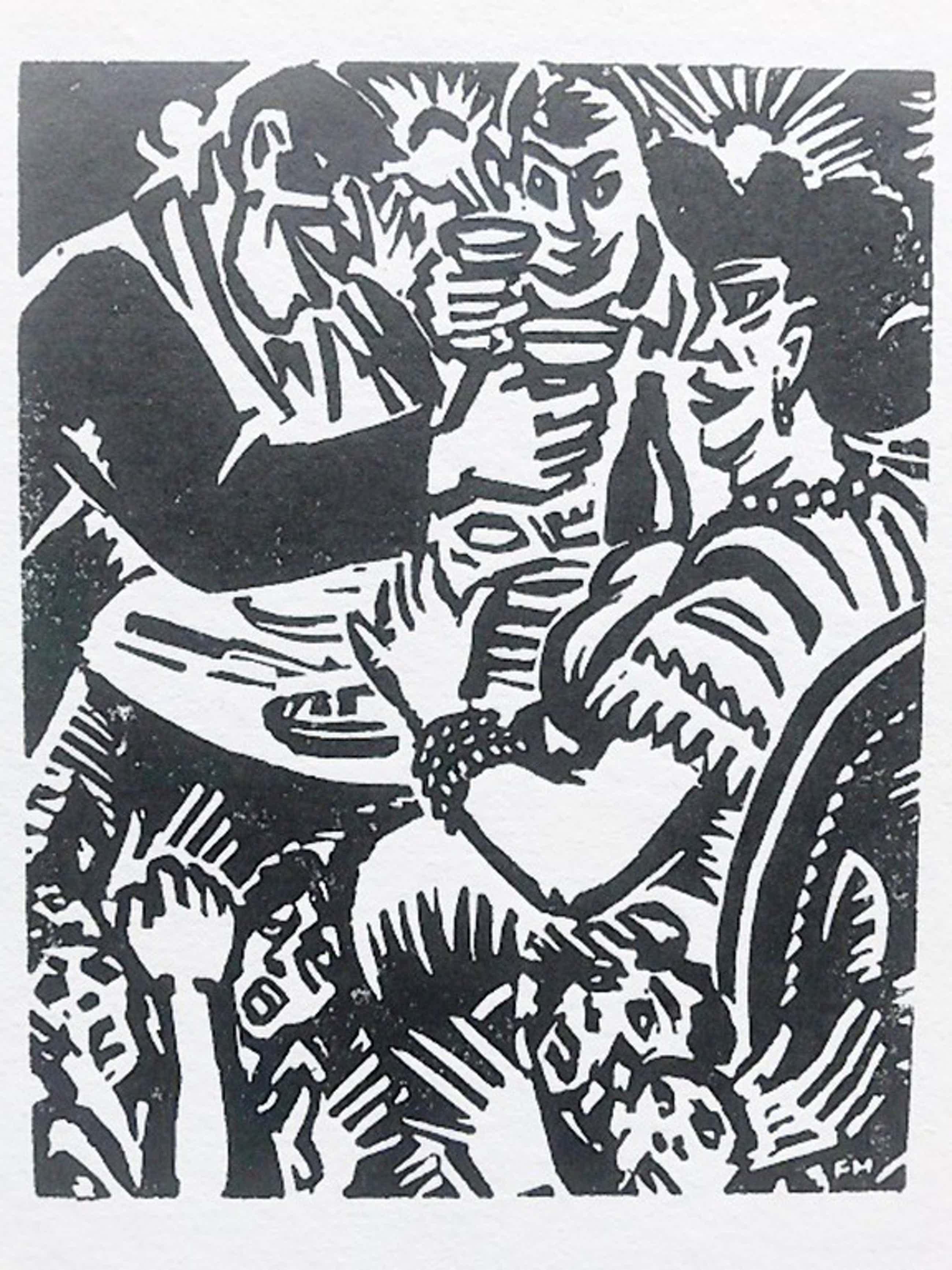Frans Masereel, houtsnede, uit Ecce Homo 1949, Neureiche kopen? Bied vanaf 35!