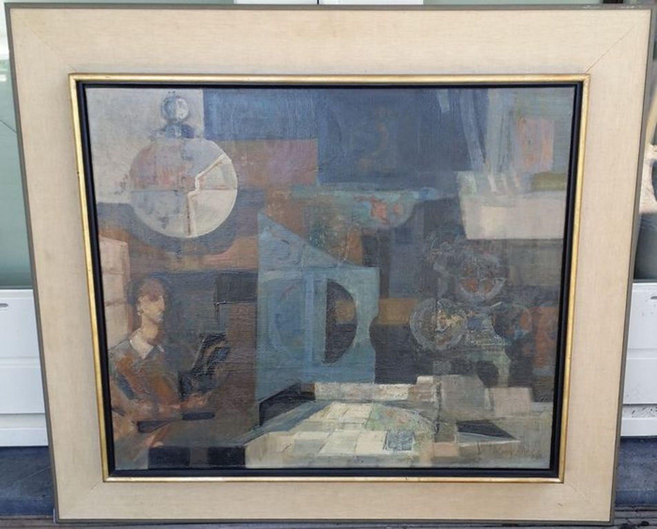Willem (Wim) van Aken - Interieur stuk met dame aan tafel kopen? Bied vanaf 600!