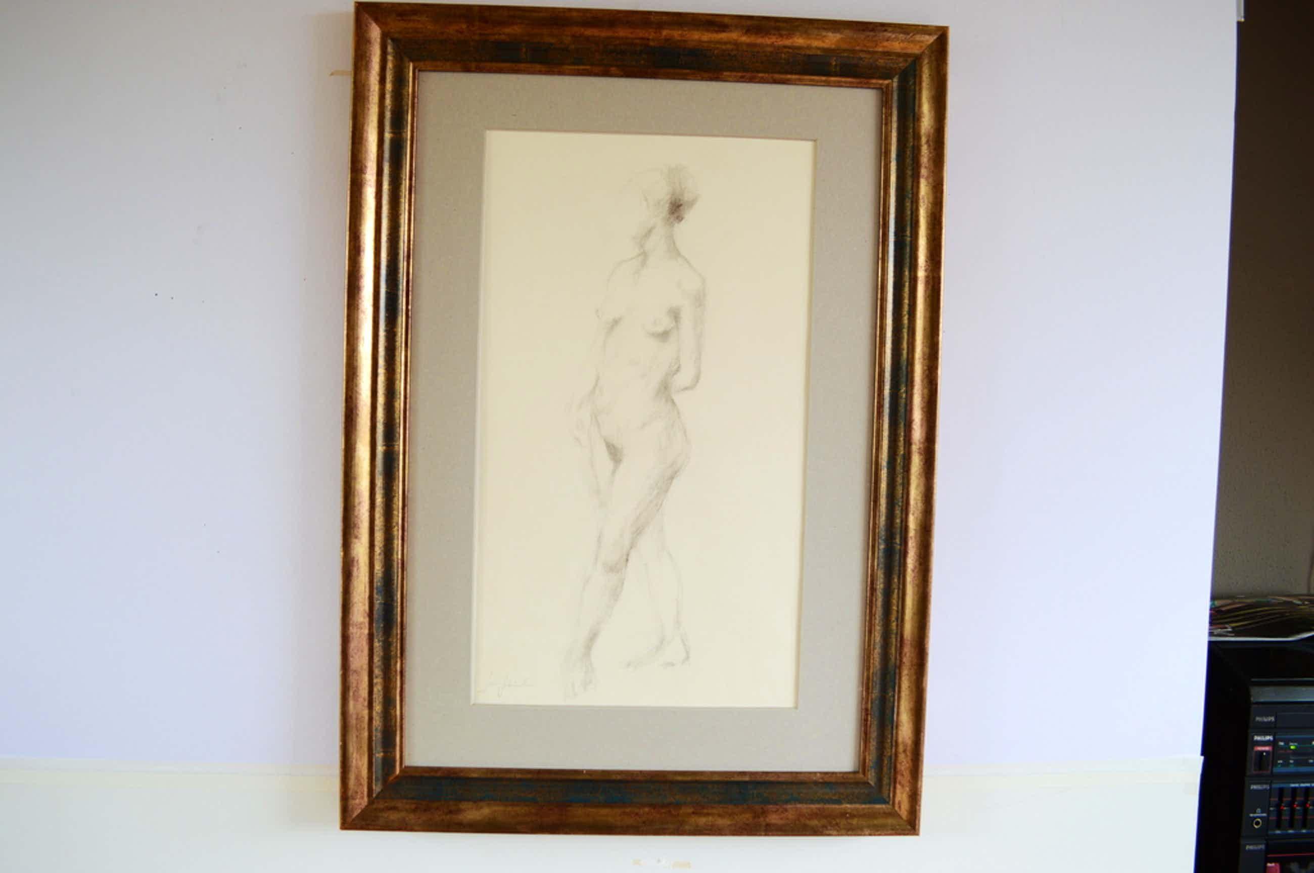 Sierk Schröder (Ambon 1903-2002 Wassenaar) naakt, potlood z.j. 35 x 55  kopen? Bied vanaf 130!