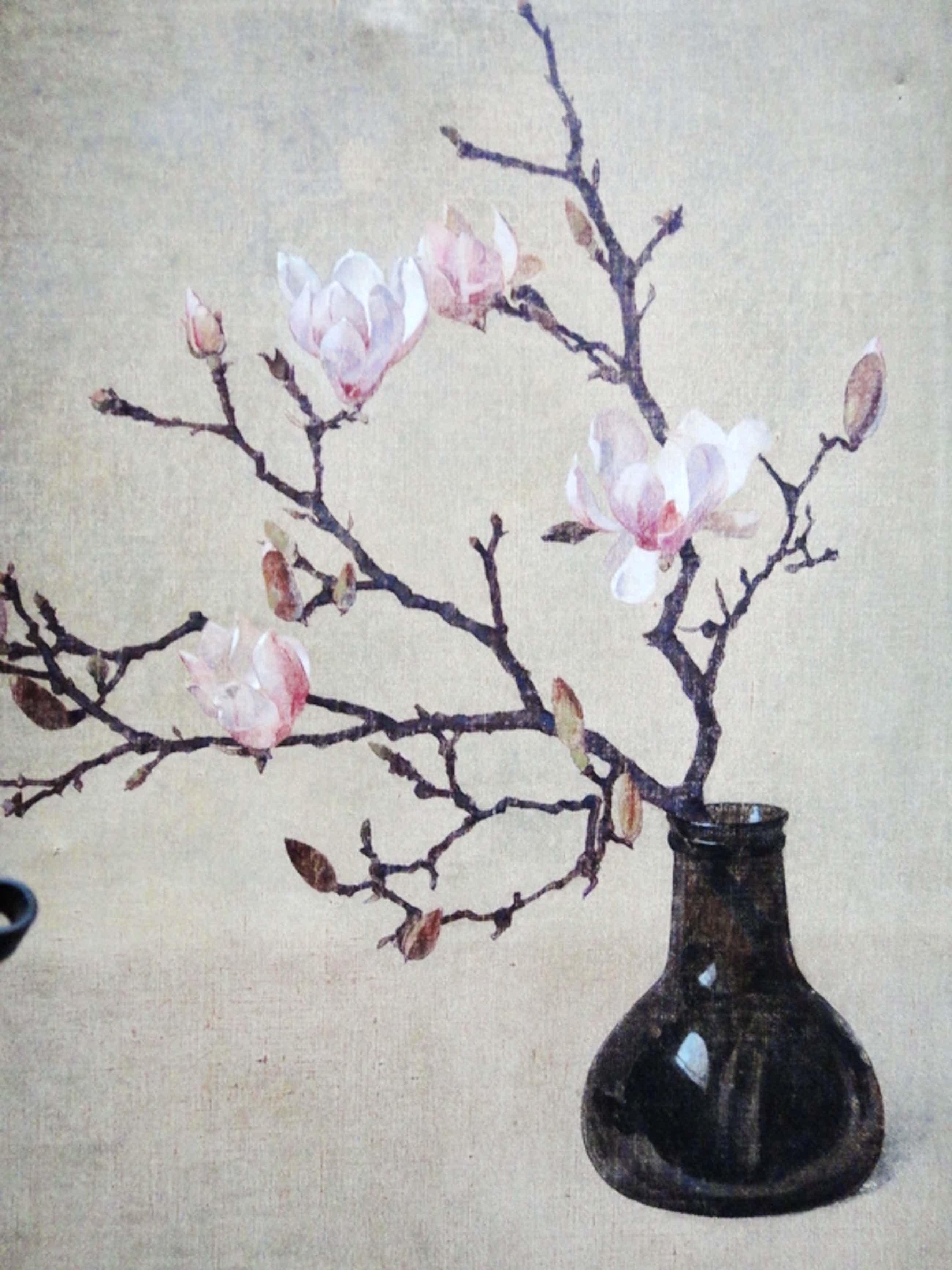 Evert-Jan Ligtelijn, oleogravure, bloeiende magnolia's kopen? Bied vanaf 35!