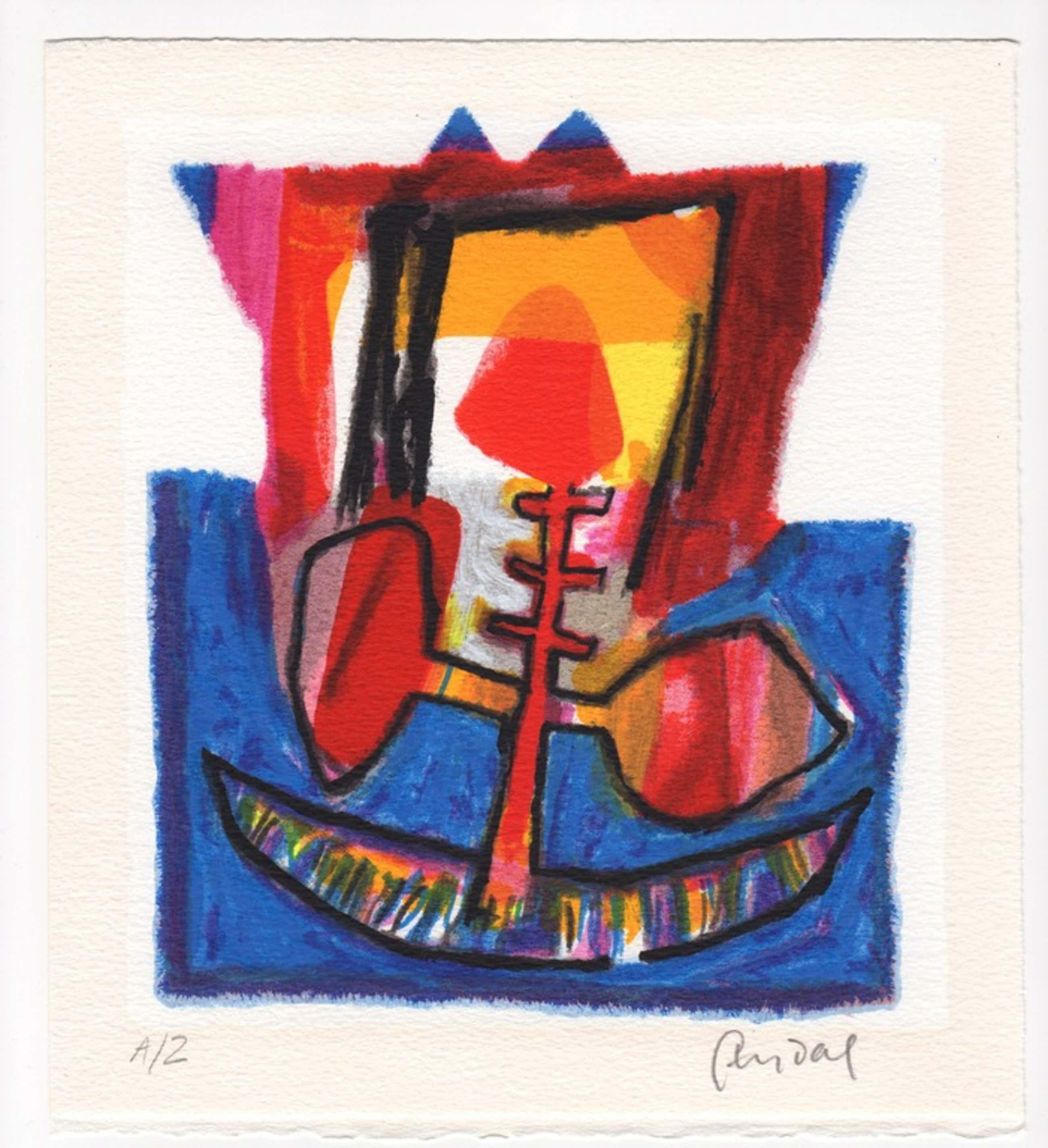 Geert Vrijdag, zeefdruk, 'Vogel', 1996 kopen? Bied vanaf 65!