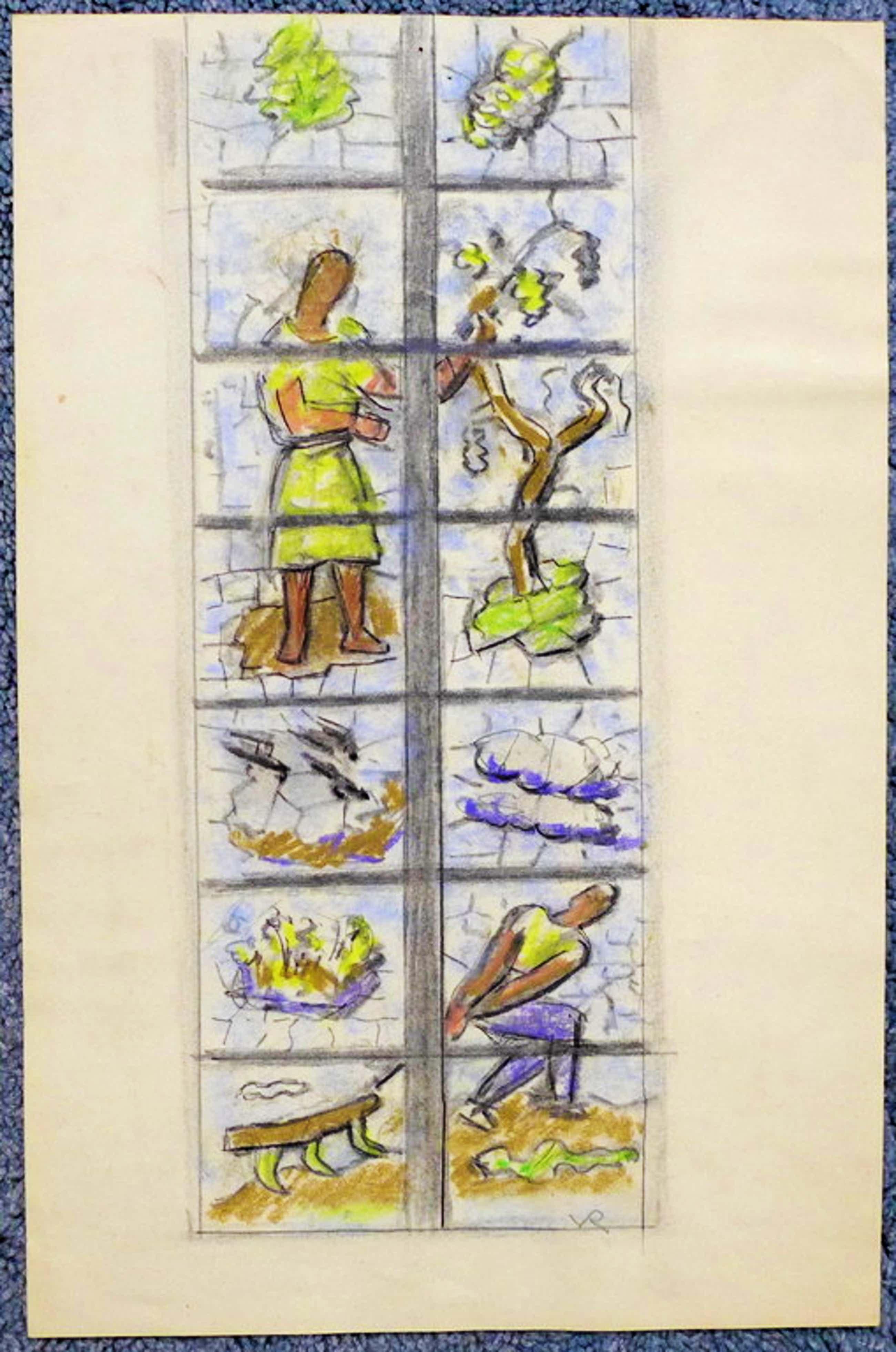 Otto van Rees, tekening/aquarel  gesigneerd rechtsonder VR   kopen? Bied vanaf 50!