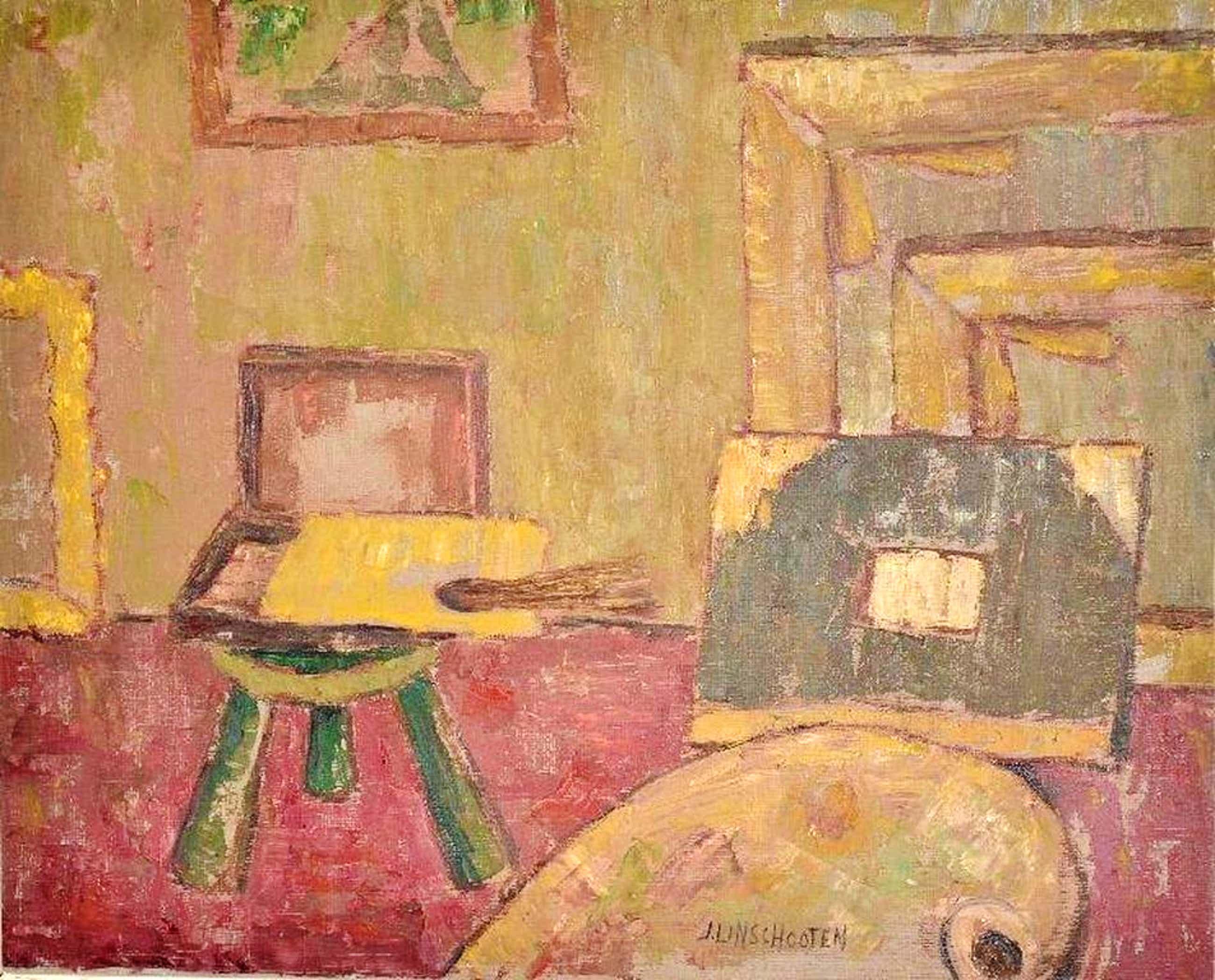 Jan Linschooten: olieverfschilderij. Atelier kopen? Bied vanaf 80!