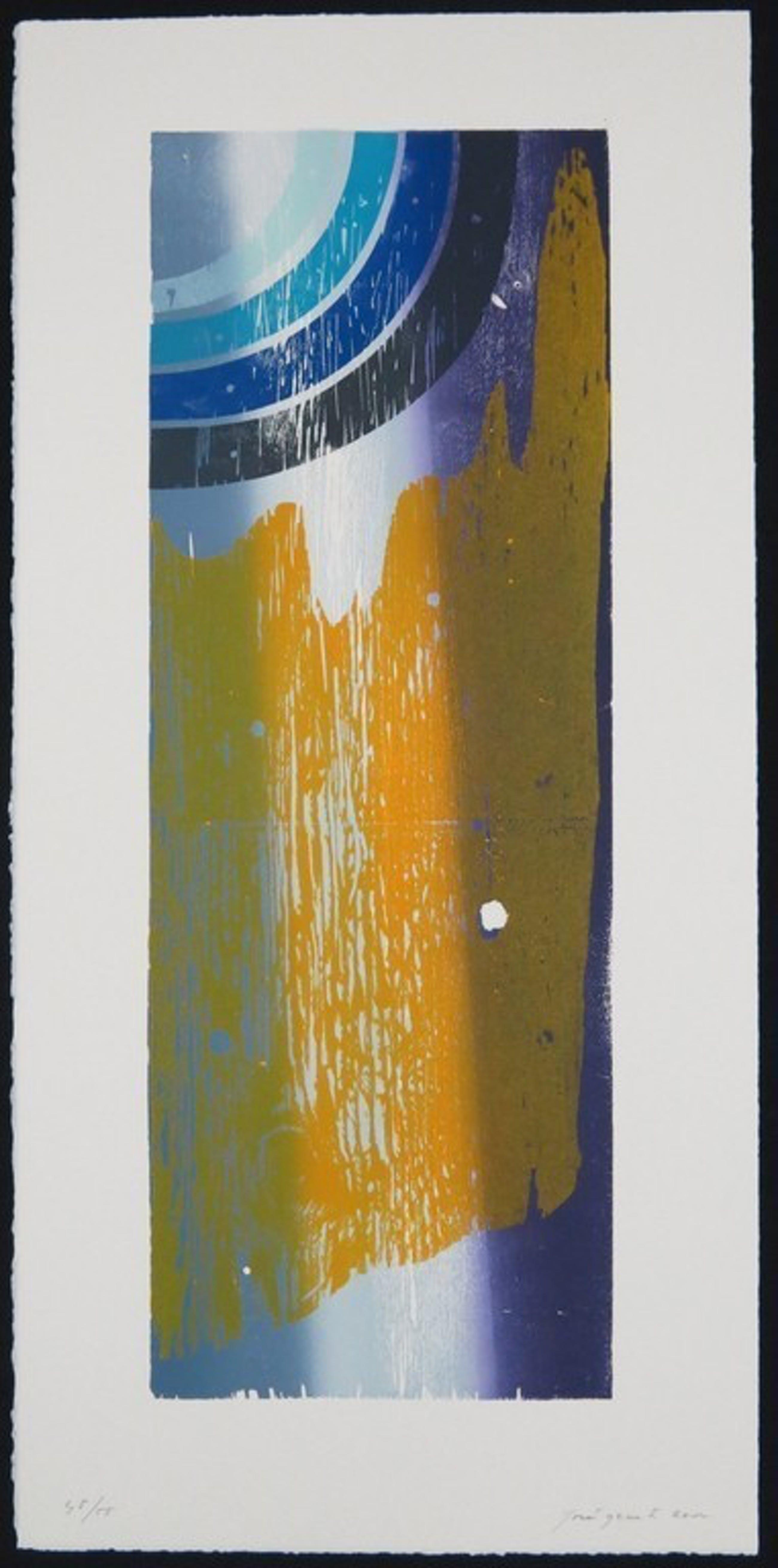 Joris Geurts: Houtsnede, Z.T. (geel/paars) kopen? Bied vanaf 1!
