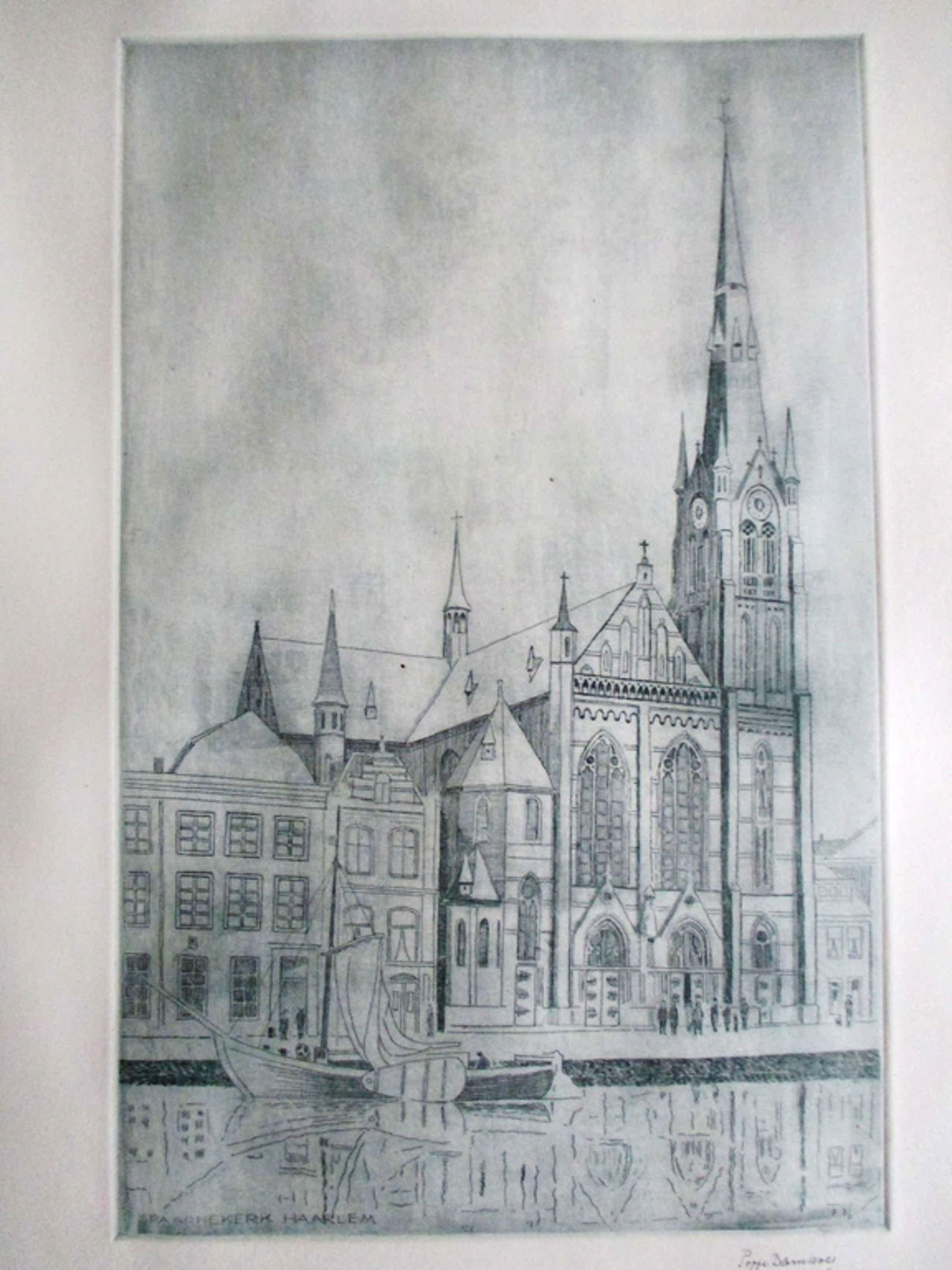 Poppe Damave, ets Spaarnekerk Haarlem kopen? Bied vanaf 63!