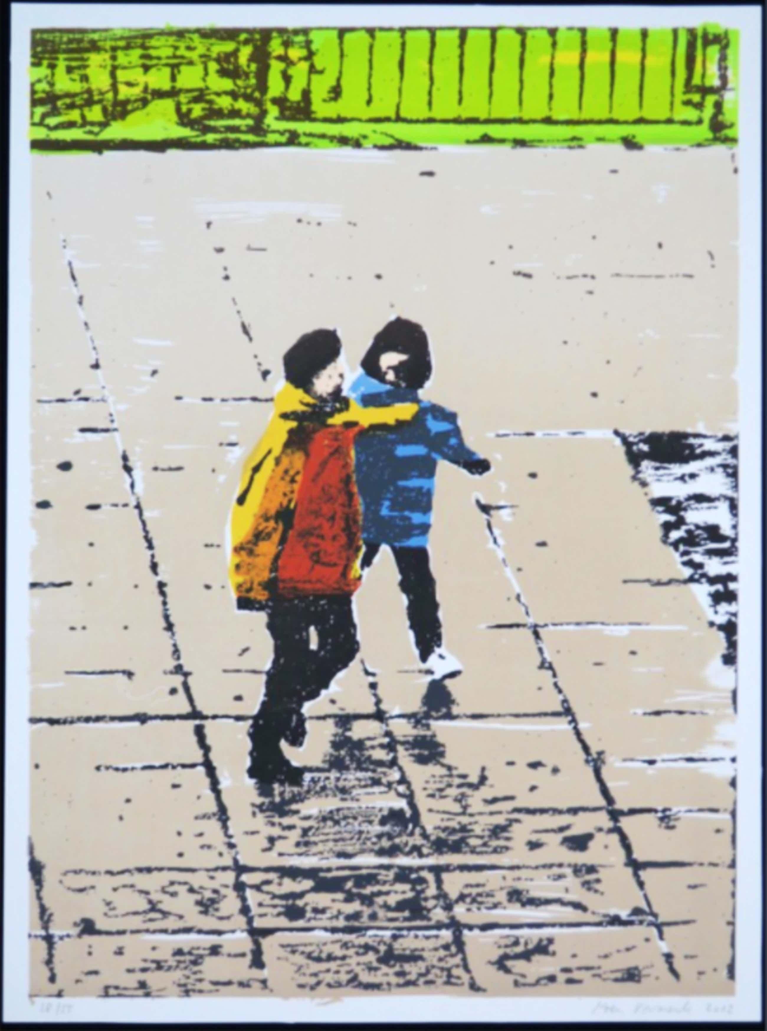 Koen Vermeule: Zeedruk, Twee figuren (geel/blauw) kopen? Bied vanaf 55!