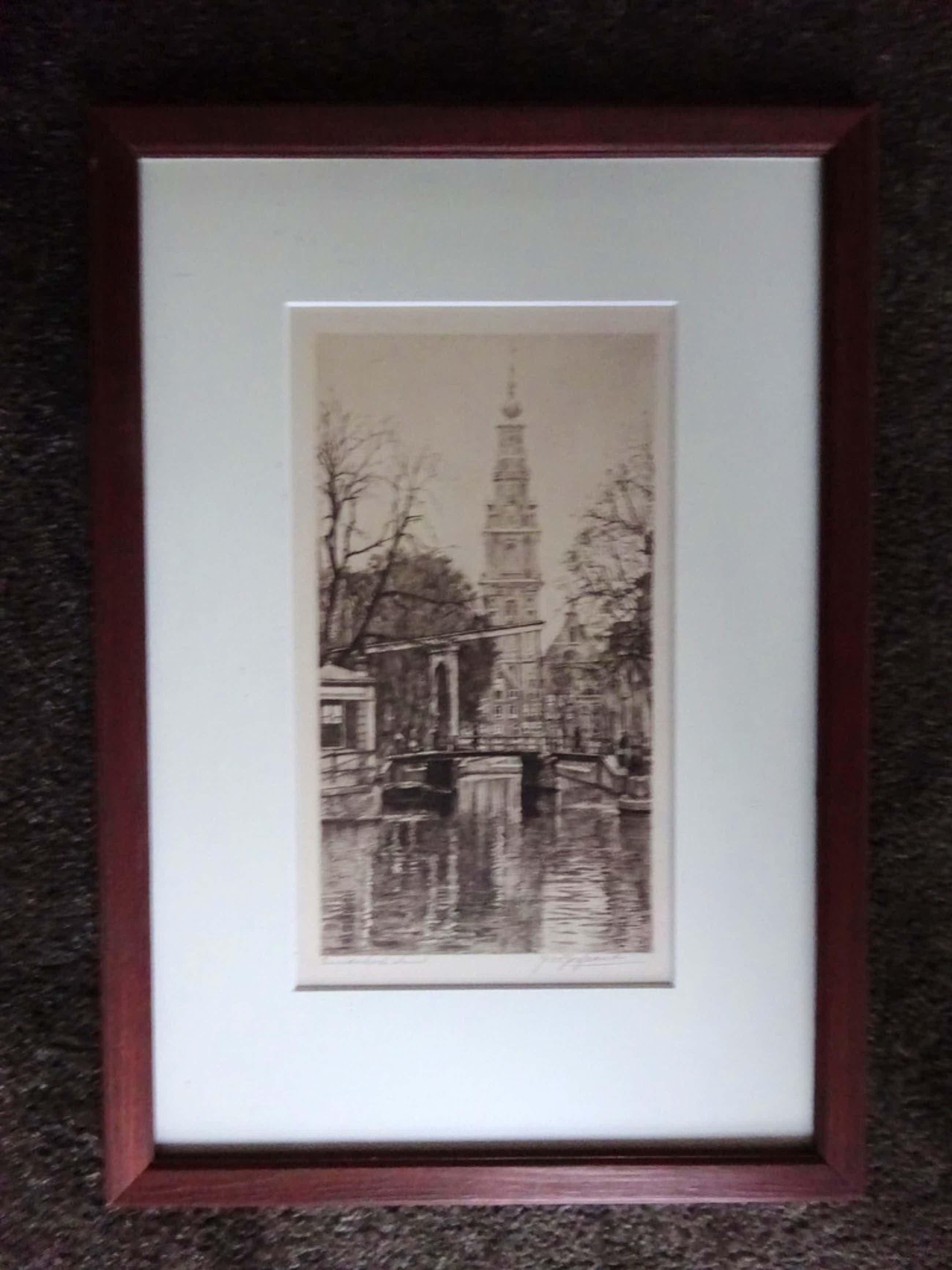 Johannes Josseaud - ets - Zuiderkerk, Amsterdam  kopen? Bied vanaf 35!