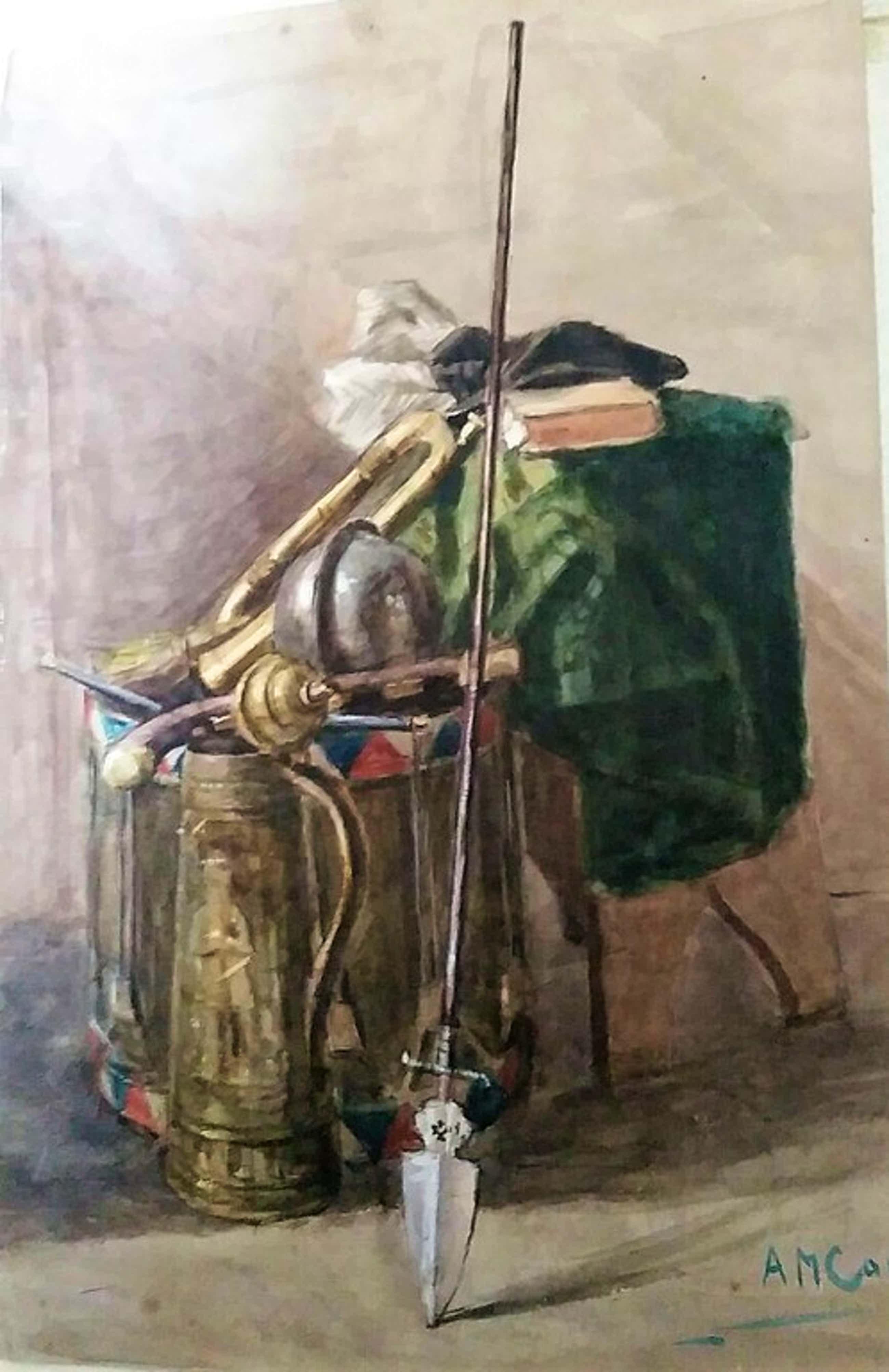 ( Zeldzaam ) 24 schetsen/tekeningen/aquarellen van de kunstenaar A.M Gorter  kopen? Bied vanaf 290!