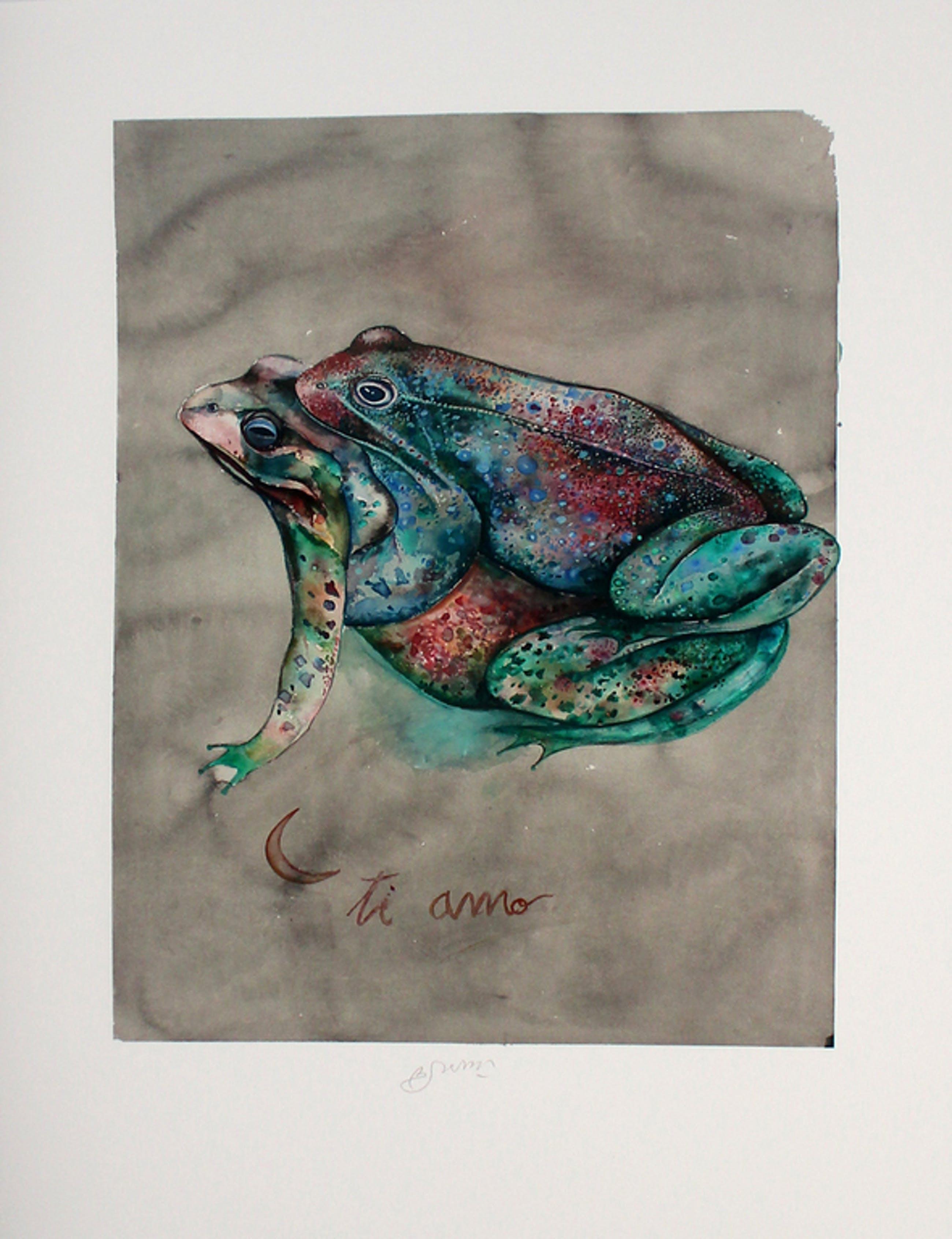 Bruno Bruni -Ti Amo- Prachtige en kleurrijke Pigmentdruk. Gesigneerd. 2017. kopen? Bied vanaf 79!