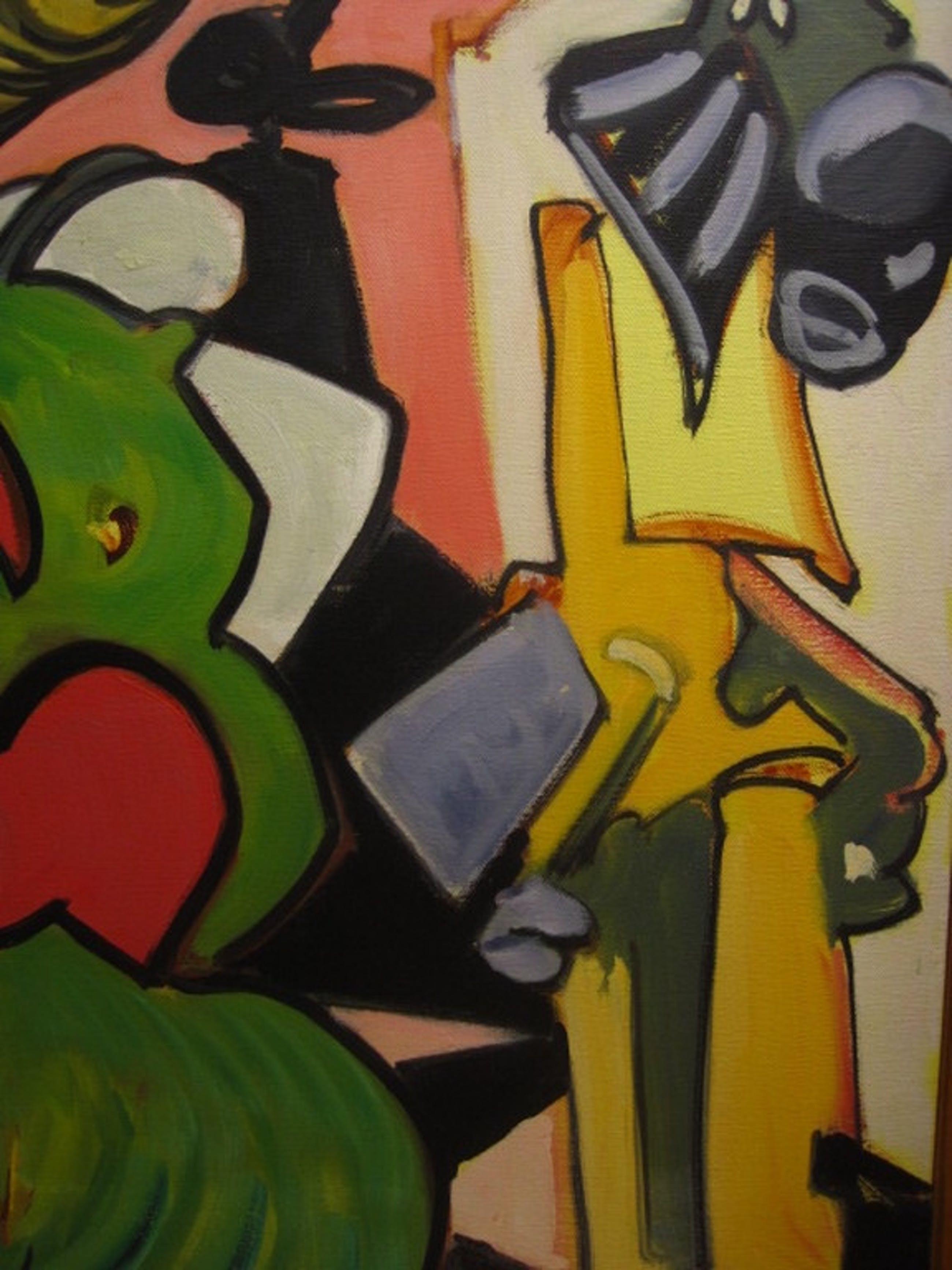 """Zeldzaam Quintus Jan Telting schilderij """"Zingend Model"""" 1987 Suriname gesigneerd kopen? Bied vanaf 1!"""