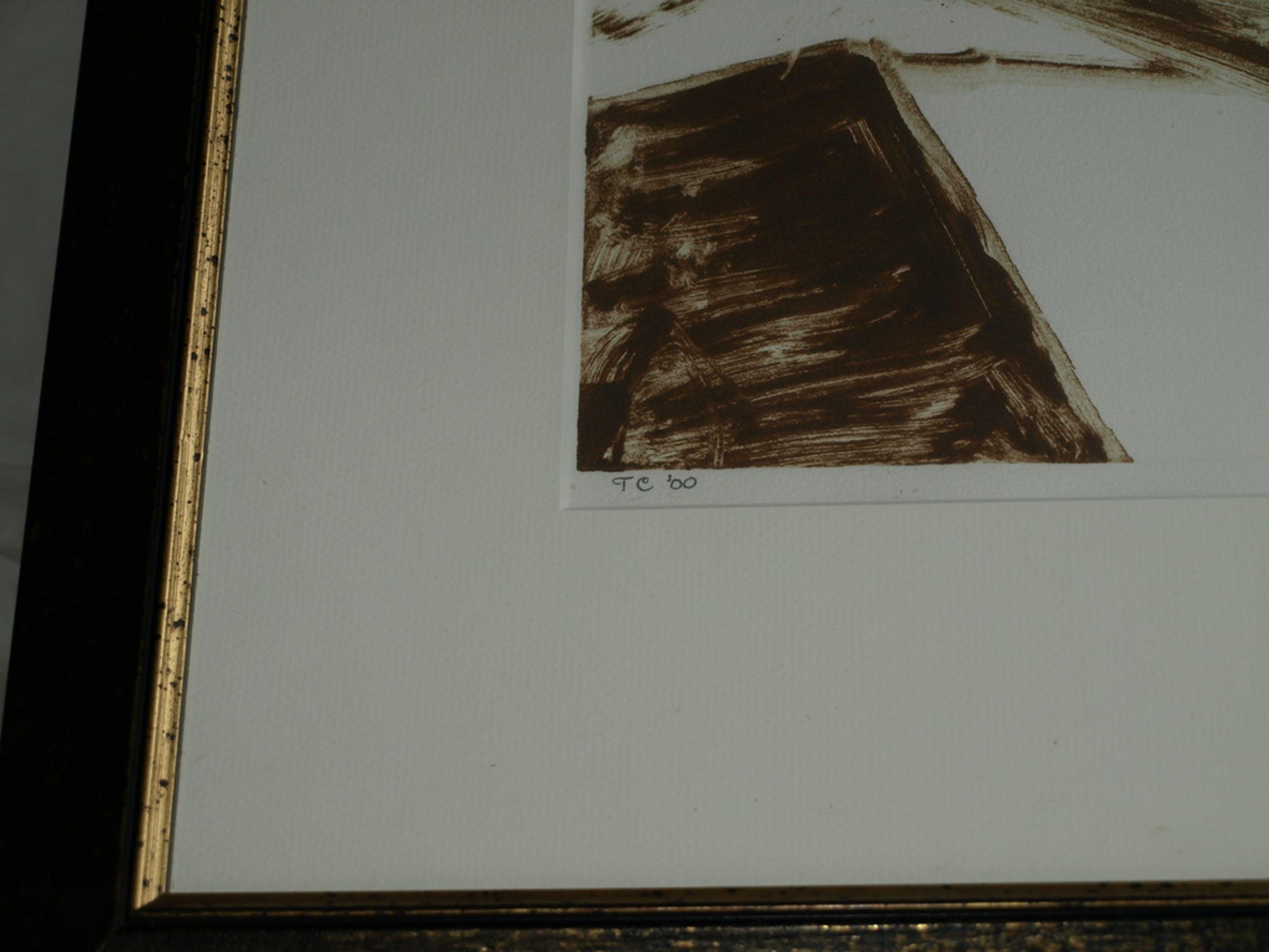 TOM COLLARD – Inkt op papier – Reclining Nude – Gesigneerd & ingelijst – 2000 kopen? Bied vanaf 75!